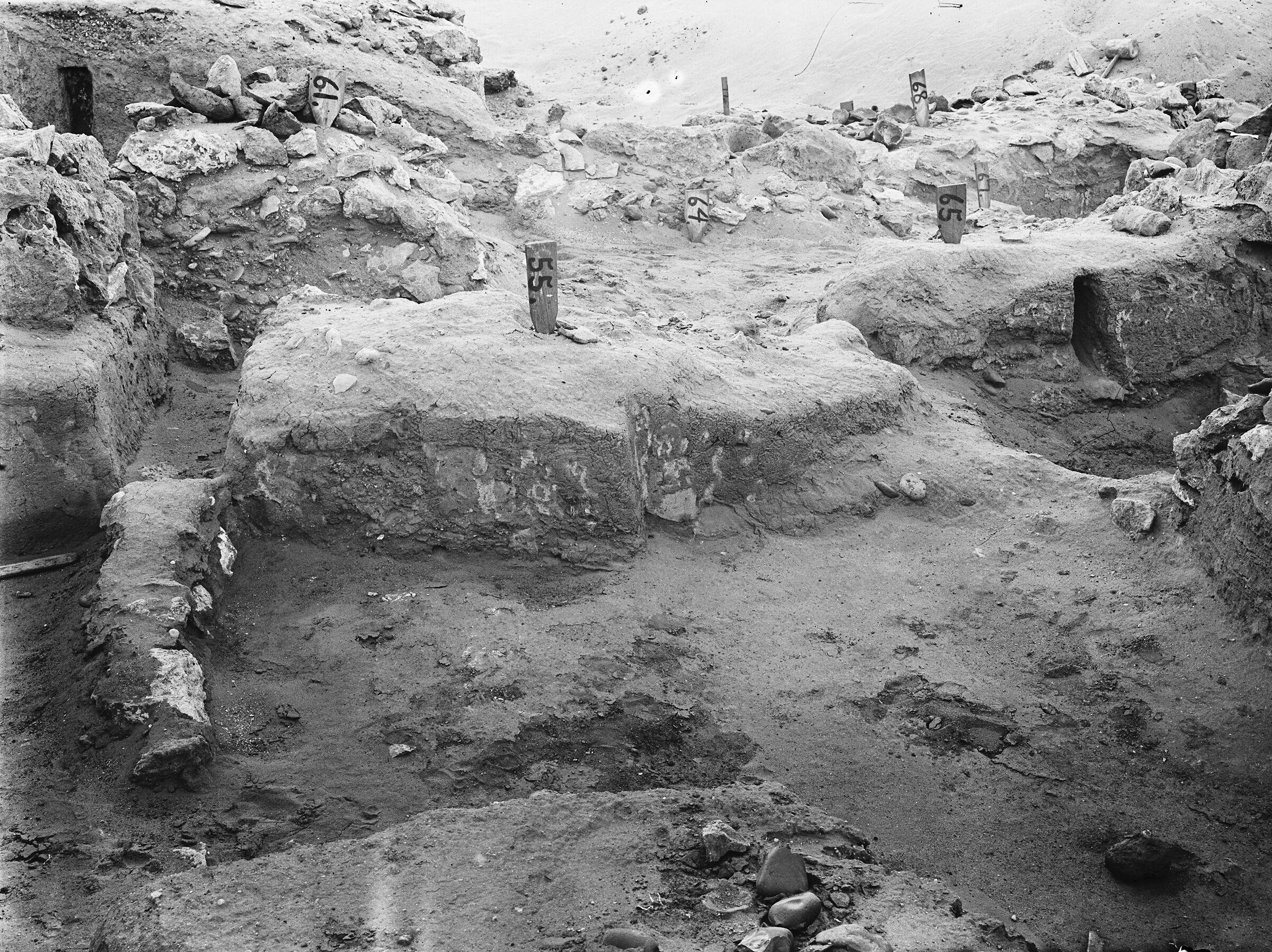 Wadi Cemetery (Reisner; north of W. Cem): Site: Giza; View: GW 54, GW 55, GW 57, GW 61, GW 64, GW 65, GW 67, GW 68