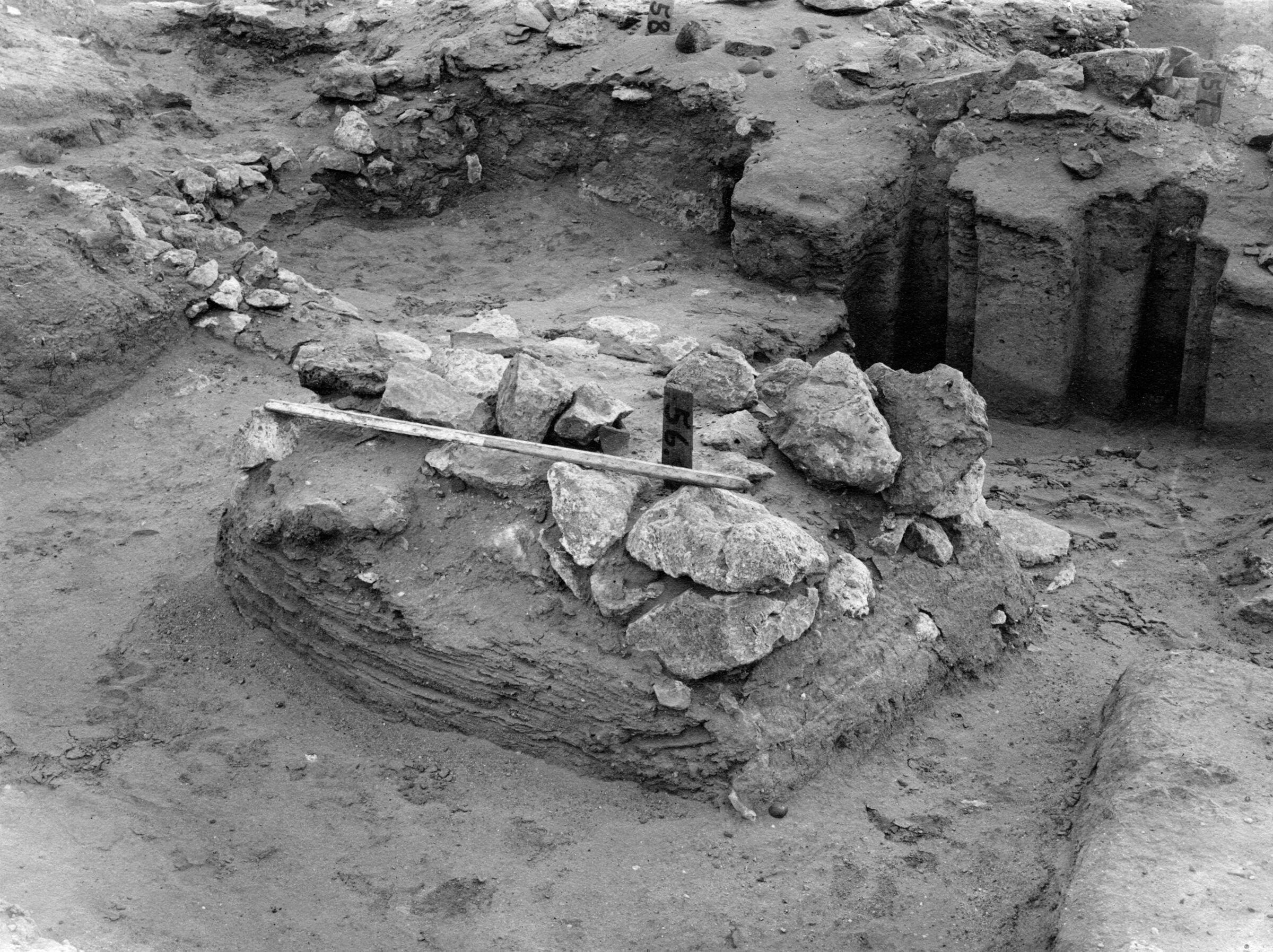 Wadi Cemetery (Reisner; north of W. Cem): Site: Giza; View: GW 54, GW 56, GW 57, GW 58