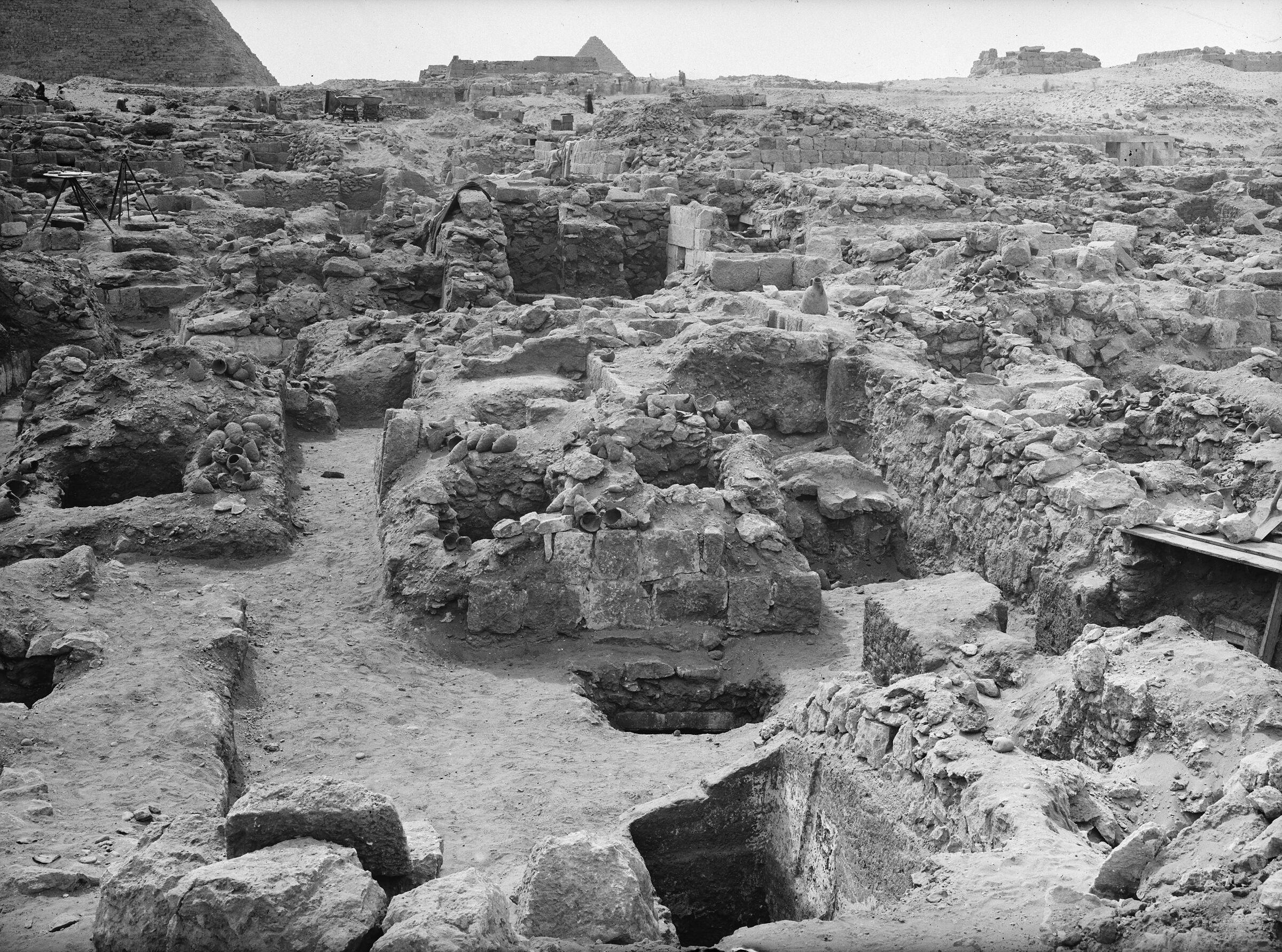 Western Cemetery: Site: Giza; View: G 1080, G 1079, G 1060, G 1074, G 1072, G 1078
