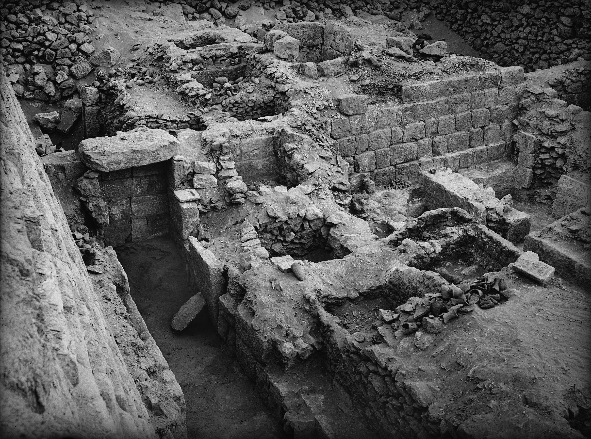 Western Cemetery: Site: Giza; View: G 1366, G 1365, G 1364, G 1363, G 1362, G 1361, G 1360