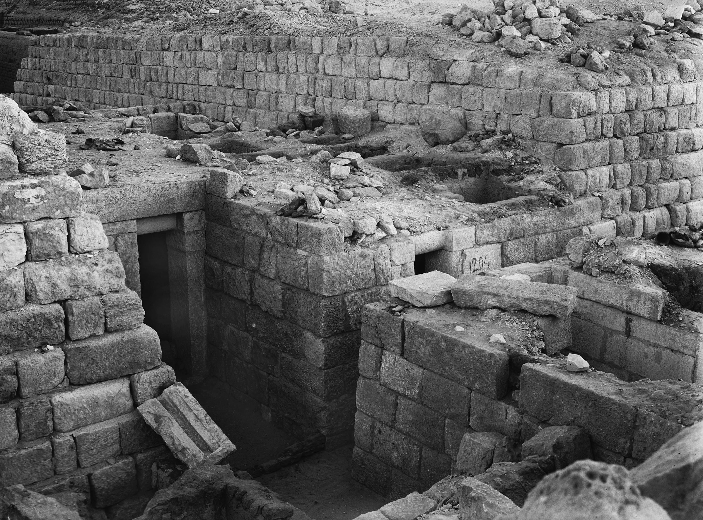 Western Cemetery: Site: Giza; View: G 1204, G 1203, G 1205, G 1220