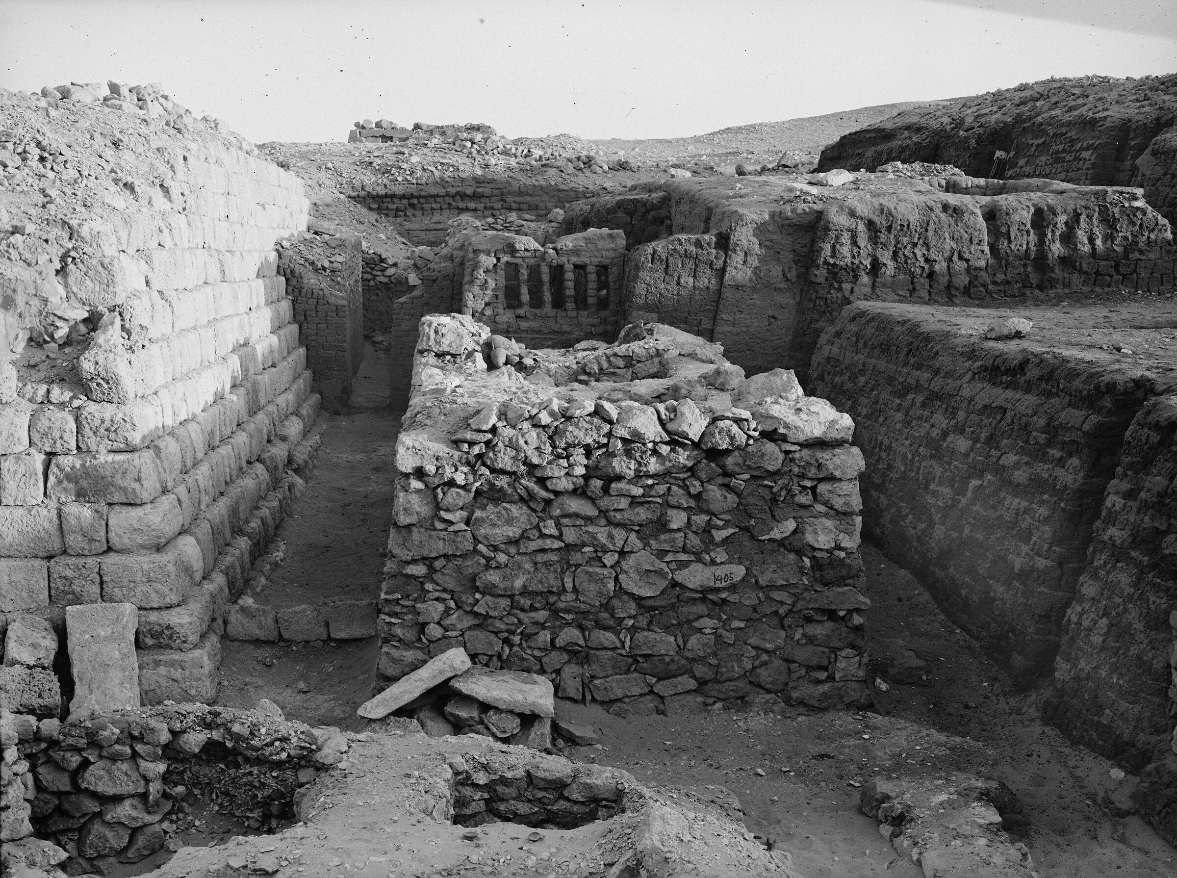 Western Cemetery: Site: Giza; View: G 1405, G 1404, G 1406, G 1209, G 1401