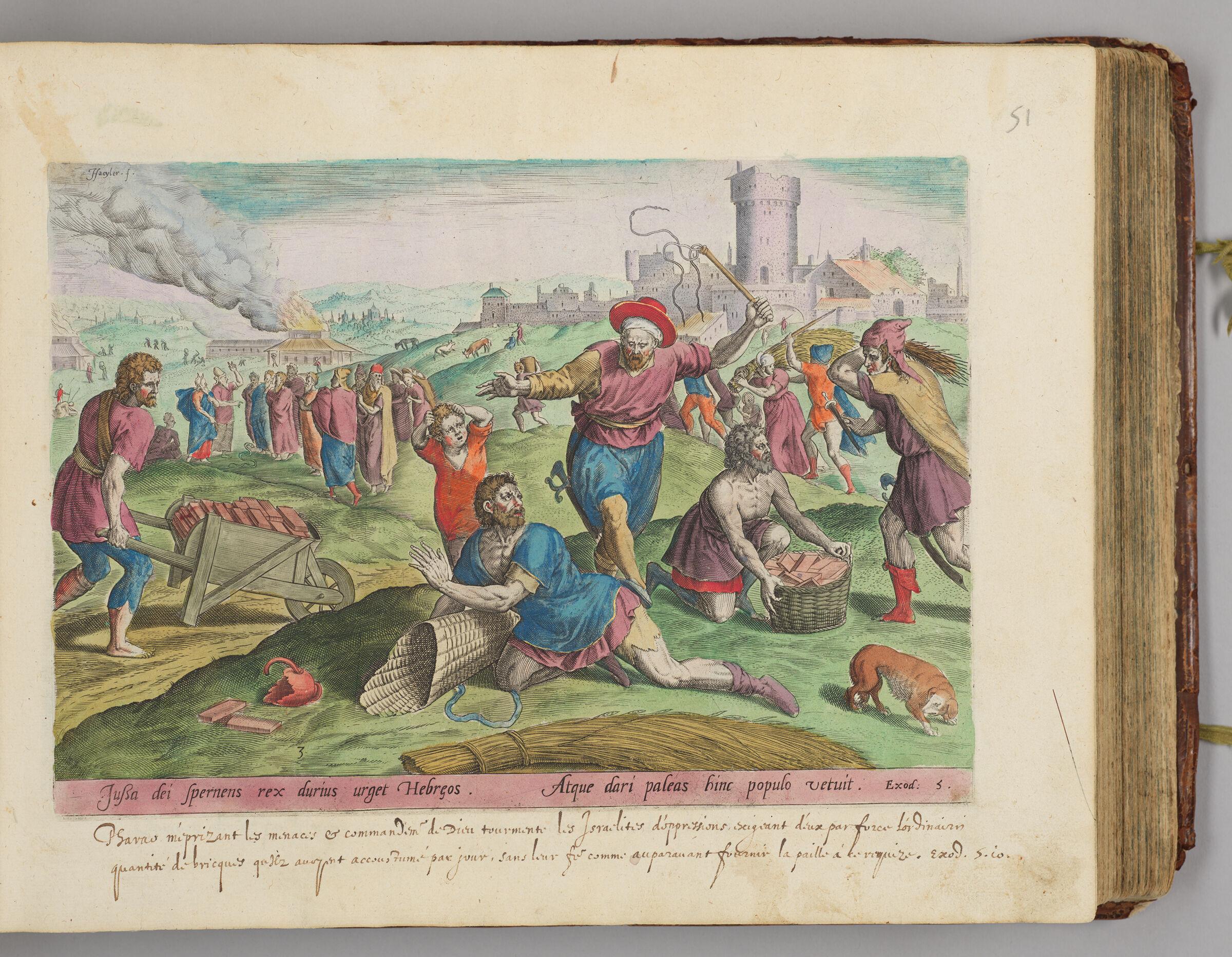 The Taskmasters Of The Pharaoh Beating The Israelites