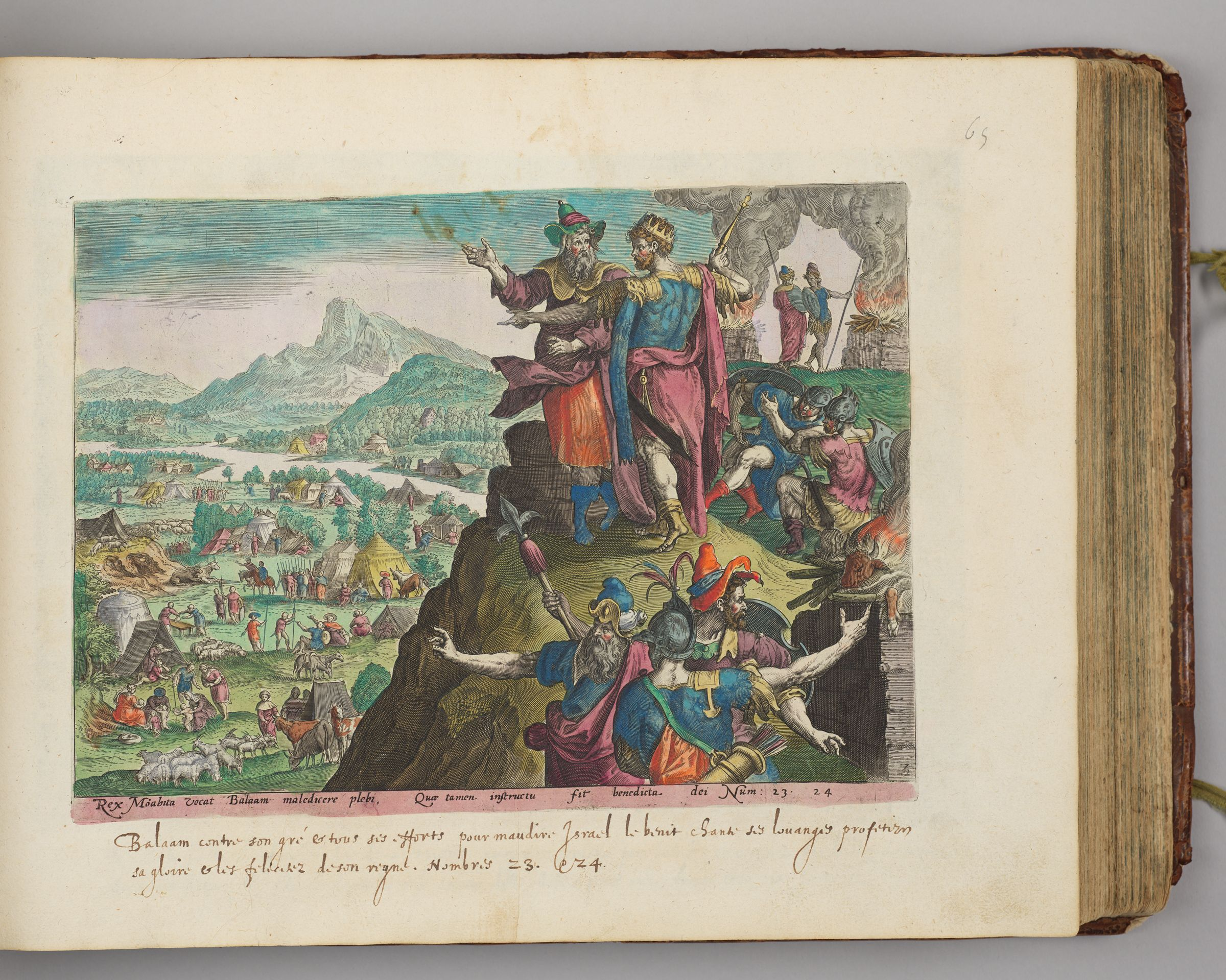 Balaam On Mount Peor Seeing The Israelite Camp