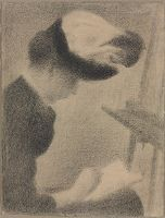Woman Seated By An Easel