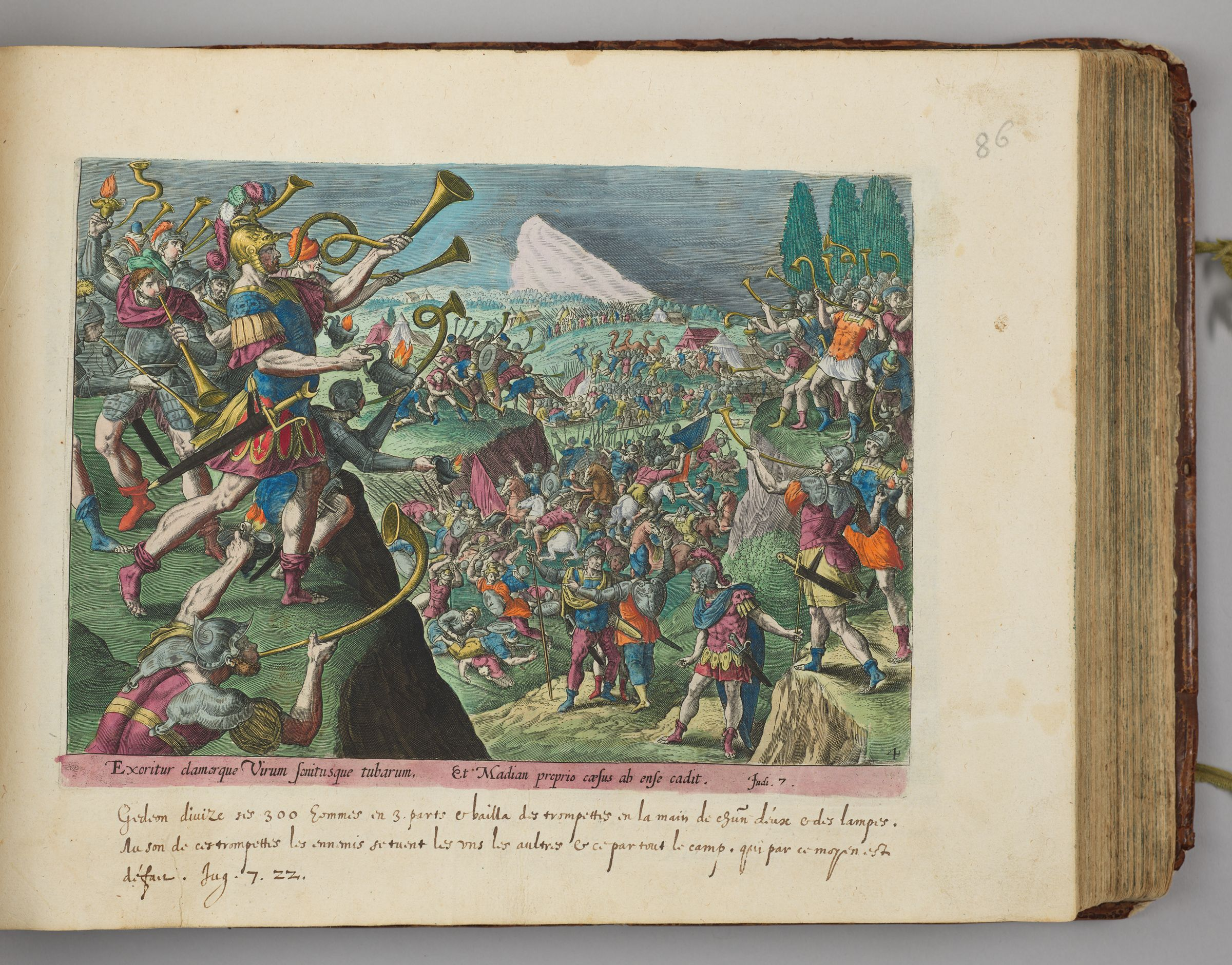 Gideon And His Army Attacking The Midianites