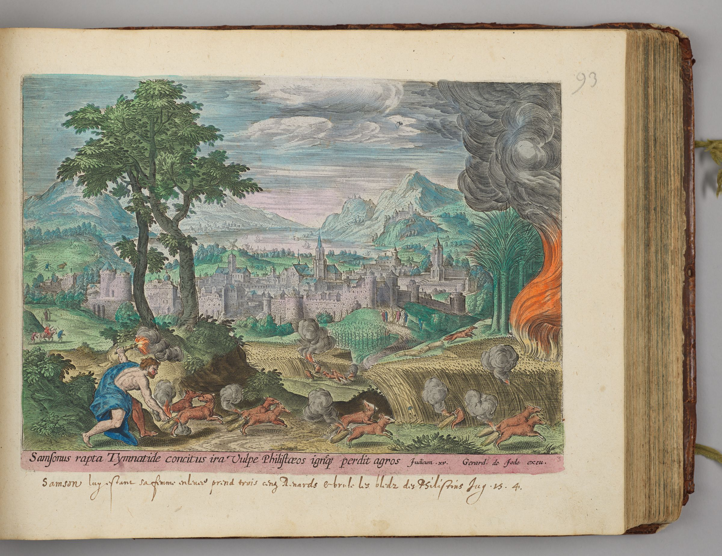 Samson Setting Fire To The Cornfields Of The Philistines