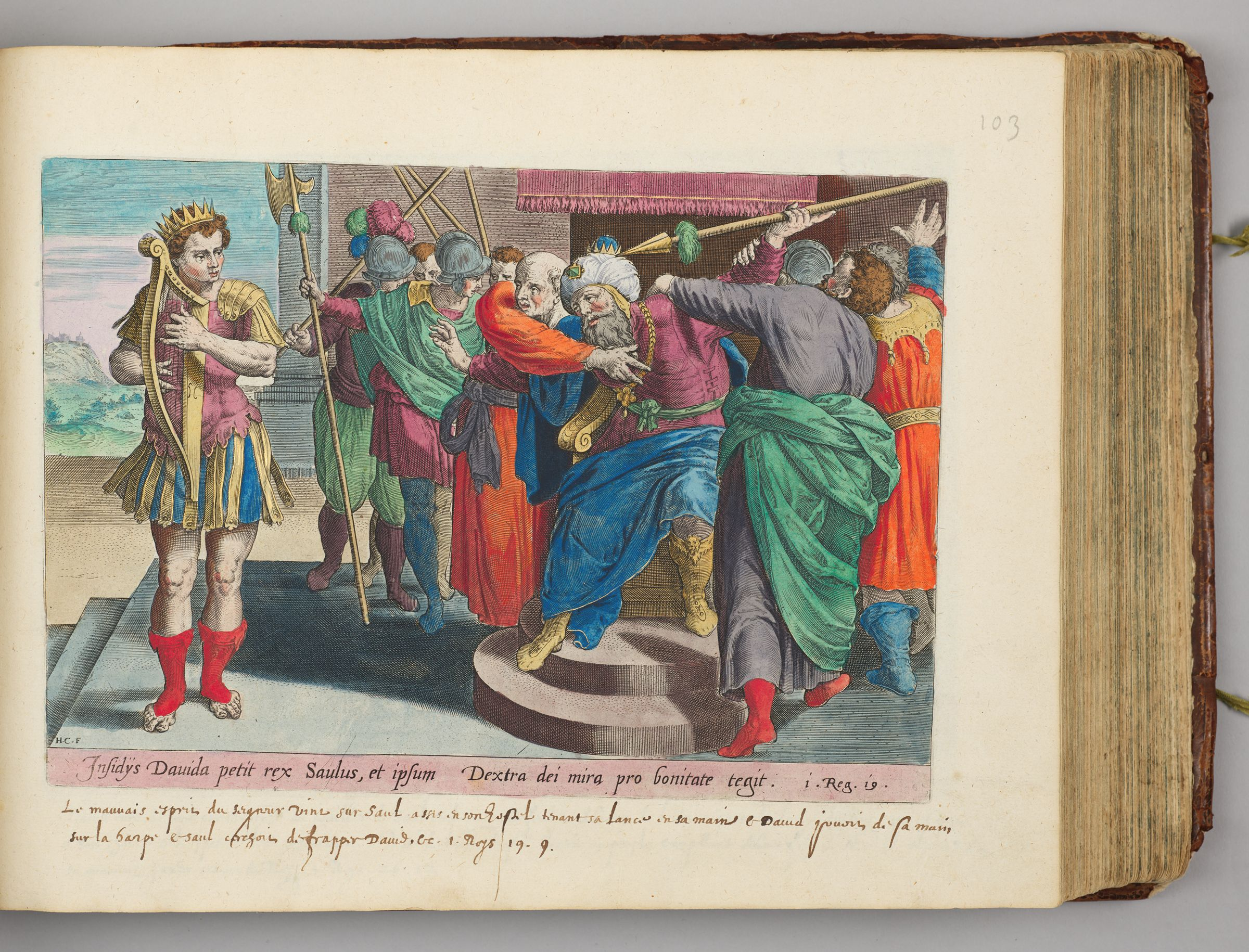 Saul Seeking To Smite David With The Javelin