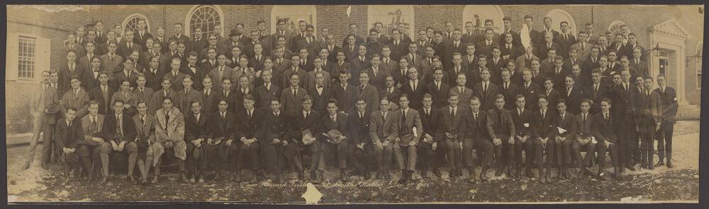 Harvard Freshmen at Smith's Halls, Dec. 1st 1921