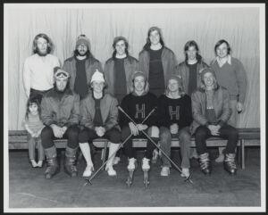 Men's skiing team, 1972-1973 season Digital Object