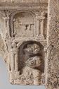 Capital From Moutiers-Saint-Jean; Principal Face: The Journey To Emmaus; Right Face: The Village Of Emmaus; Left Face: Angel