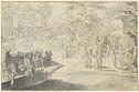 Fête Galante; Verso: Theater Scene