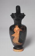 Oinochoe (wine pitcher): Woman Playing a Lyre