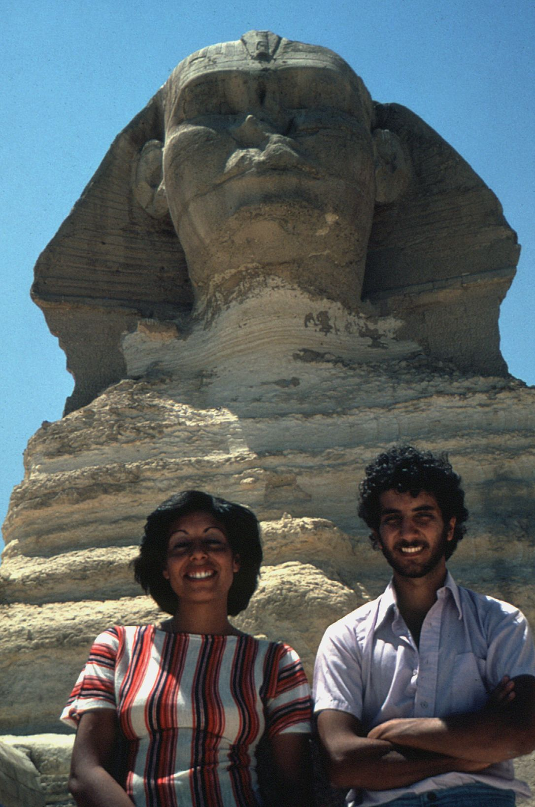 People & places: Site: Giza; View: Sphinx