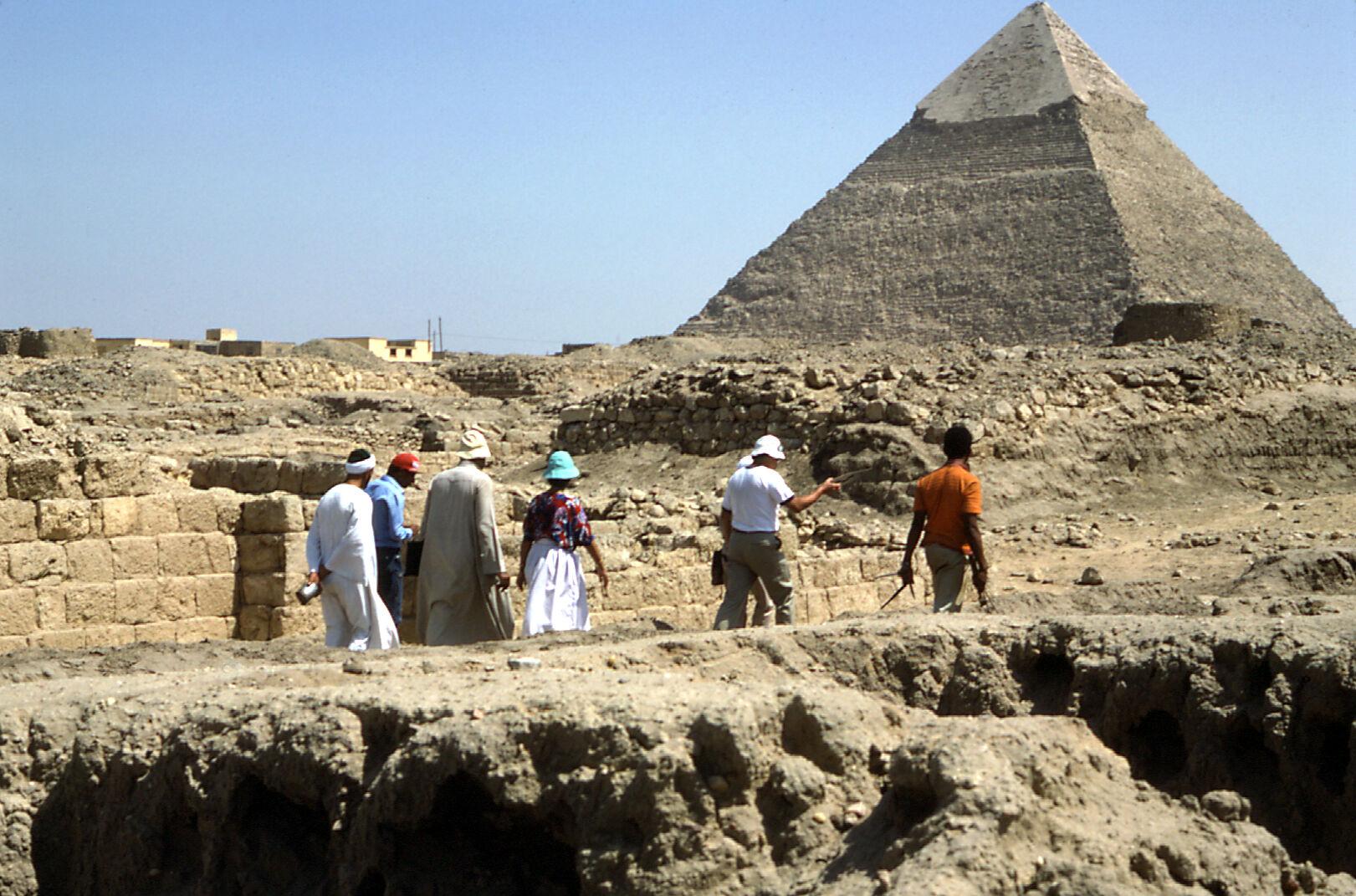 Western Cemetery: Site: Giza; View: Persen, Khafre Pyramid