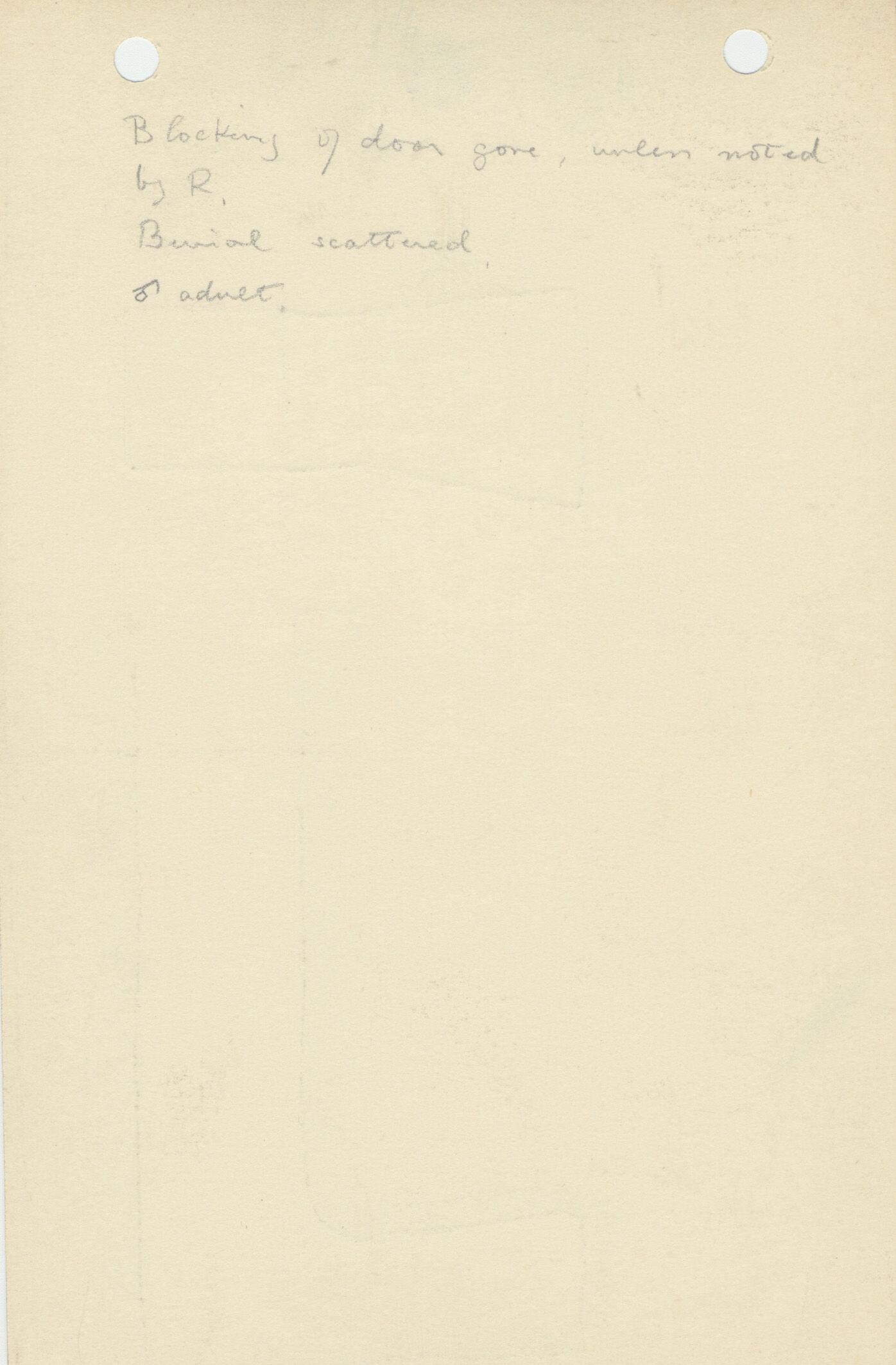 Notes: G 1109, Shaft D, notes