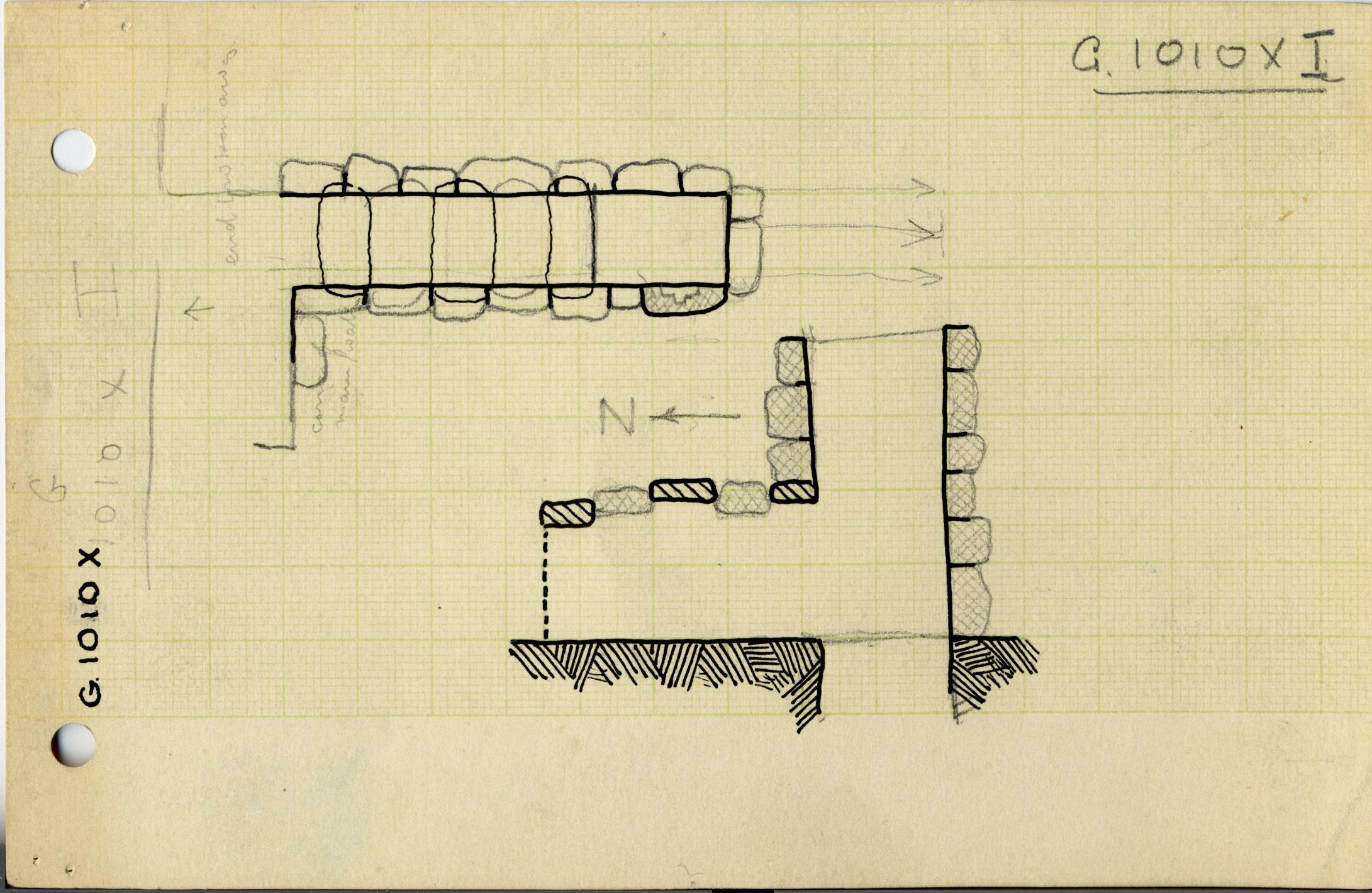 Maps and plans: G 1010, Shaft X (I)