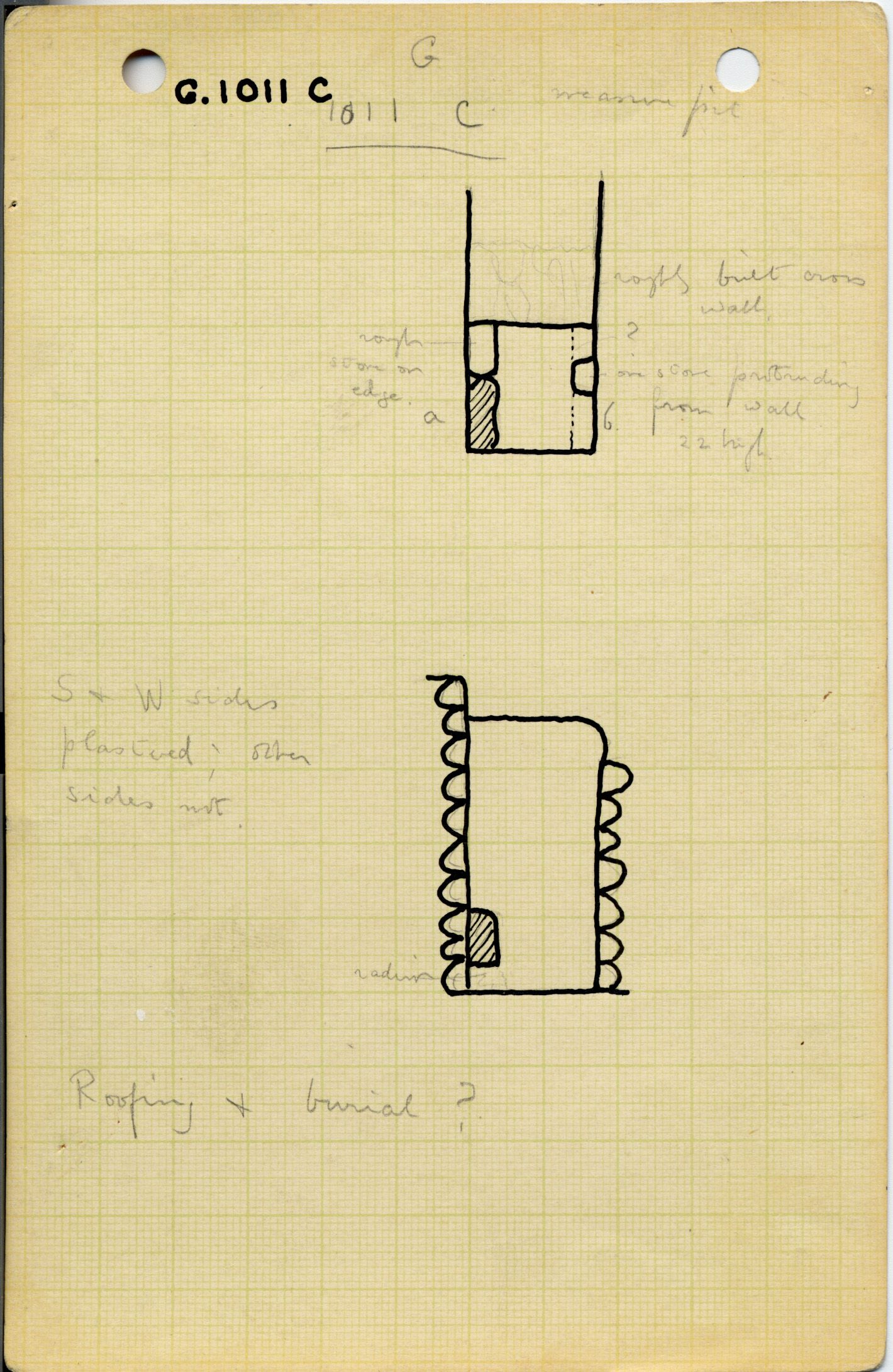 Maps and plans: G 1011, Shaft C