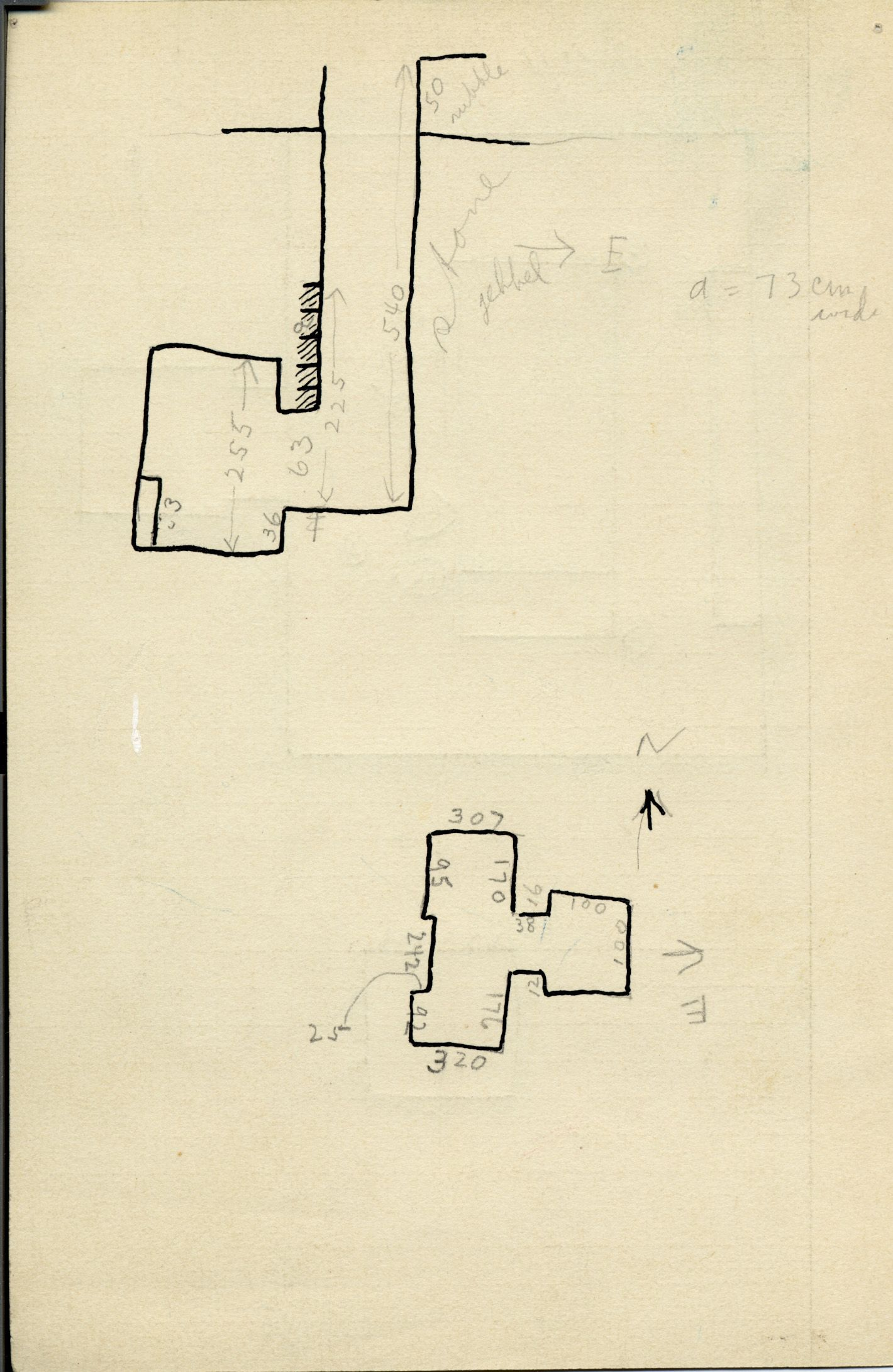 Maps and plans: G 1011, Shaft P
