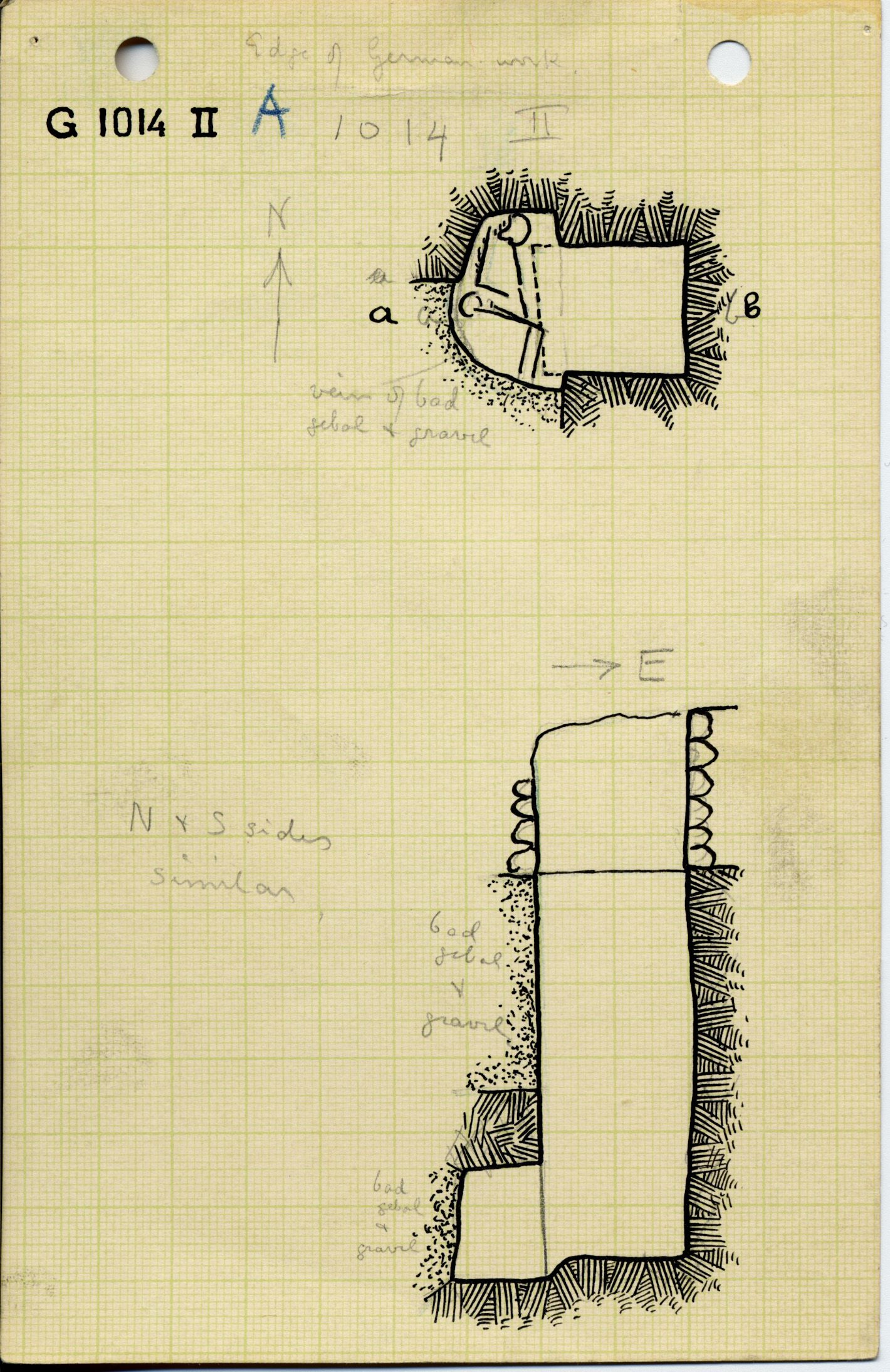 Maps and plans: G 1014, Shaft A