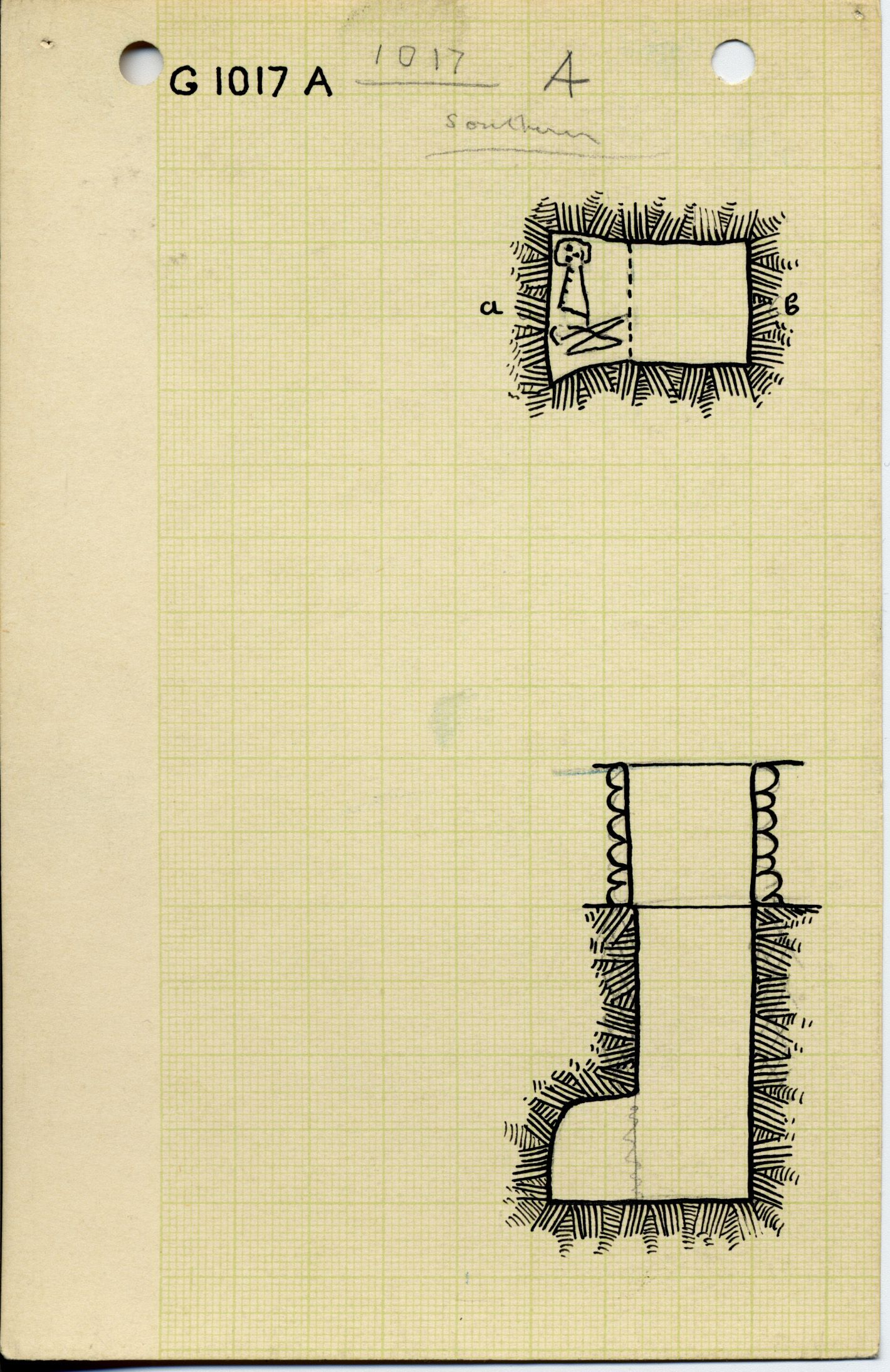 Maps and plans: G 1017, Shaft A