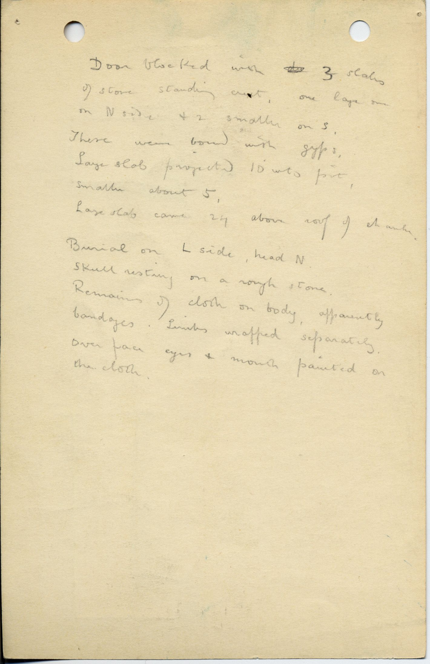 Notes: G 1021, Shaft B, notes