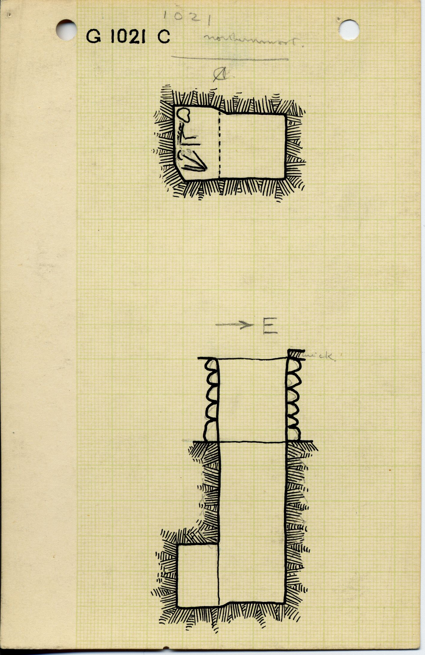 Maps and plans: G 1021, Shaft C