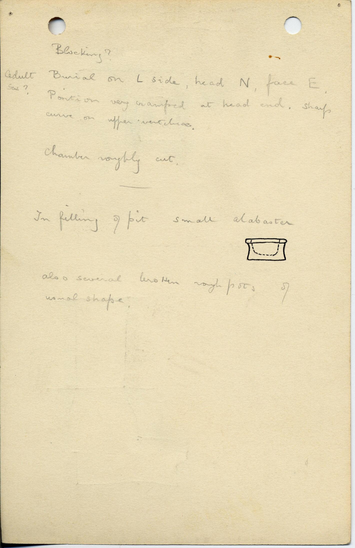 Notes: G 1022, Shaft J, notes
