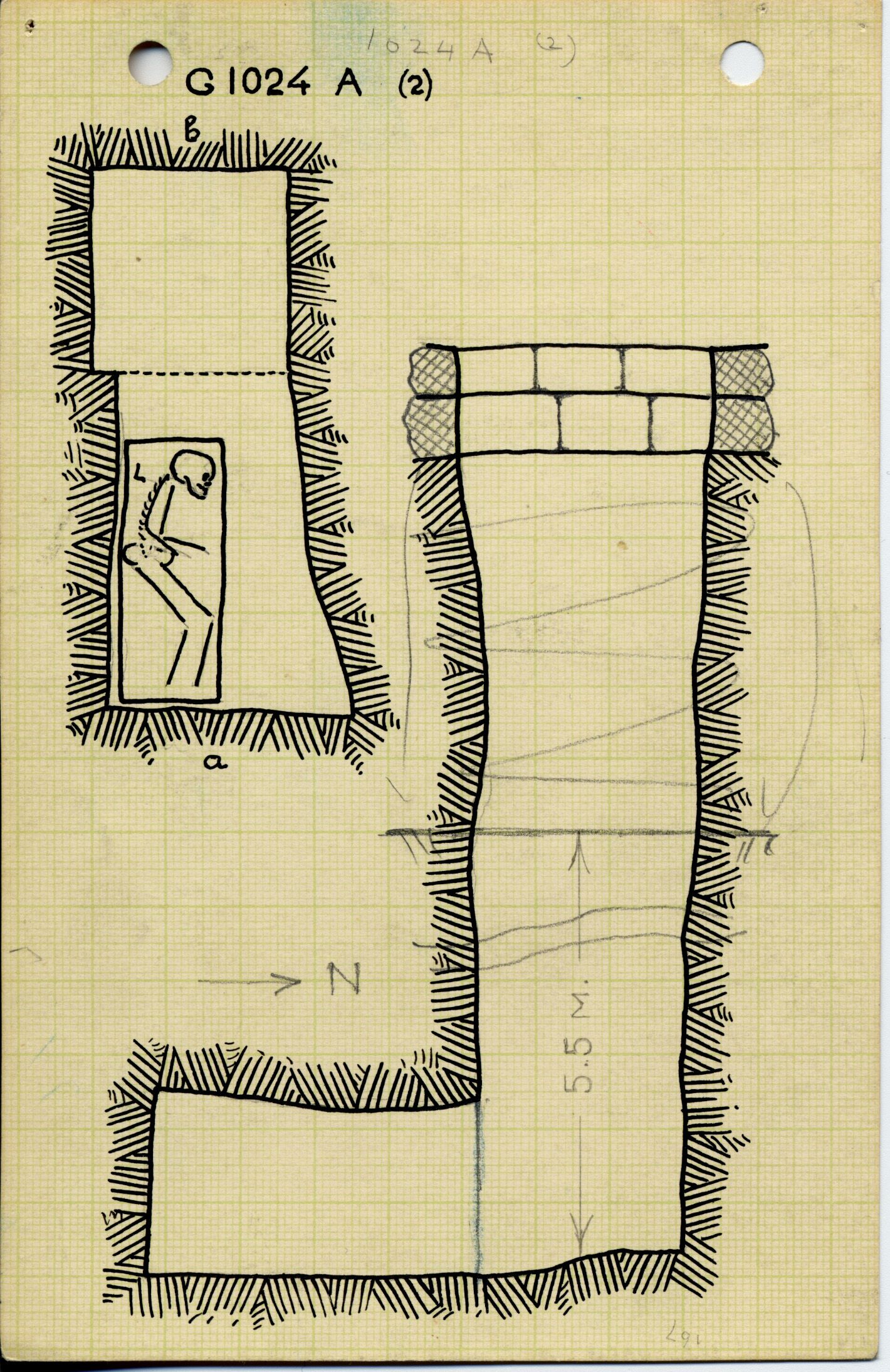 Maps and plans: G 1024, Shaft A