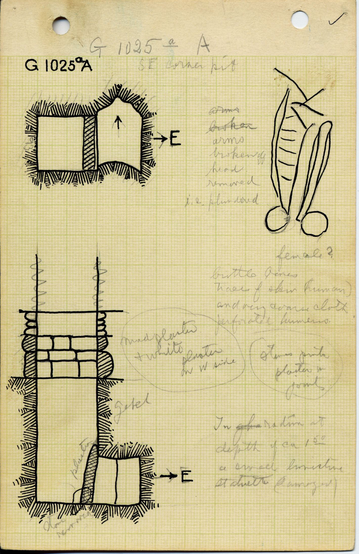Maps and plans: G 1025a, Shaft A