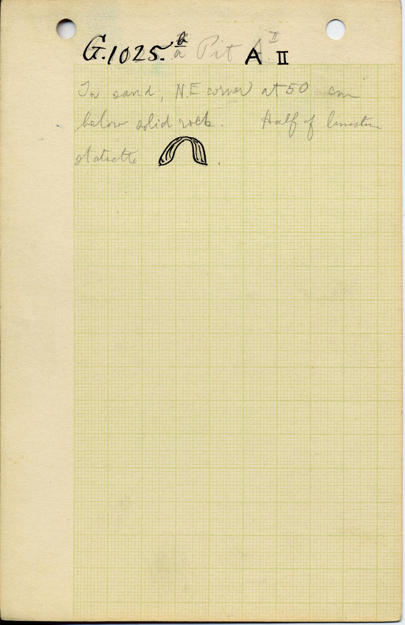 Notes: G 1025a, Shaft A