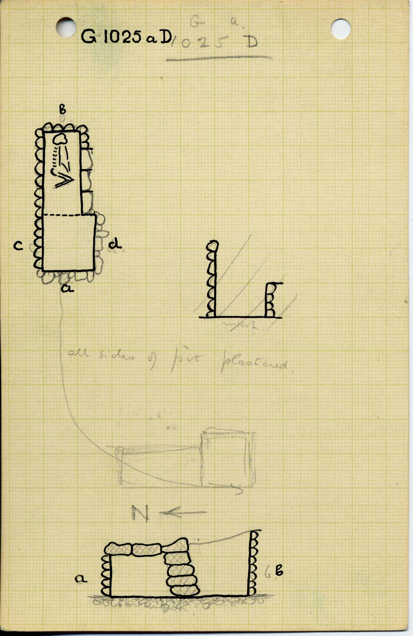 Maps and plans: G 1025a, Shaft D
