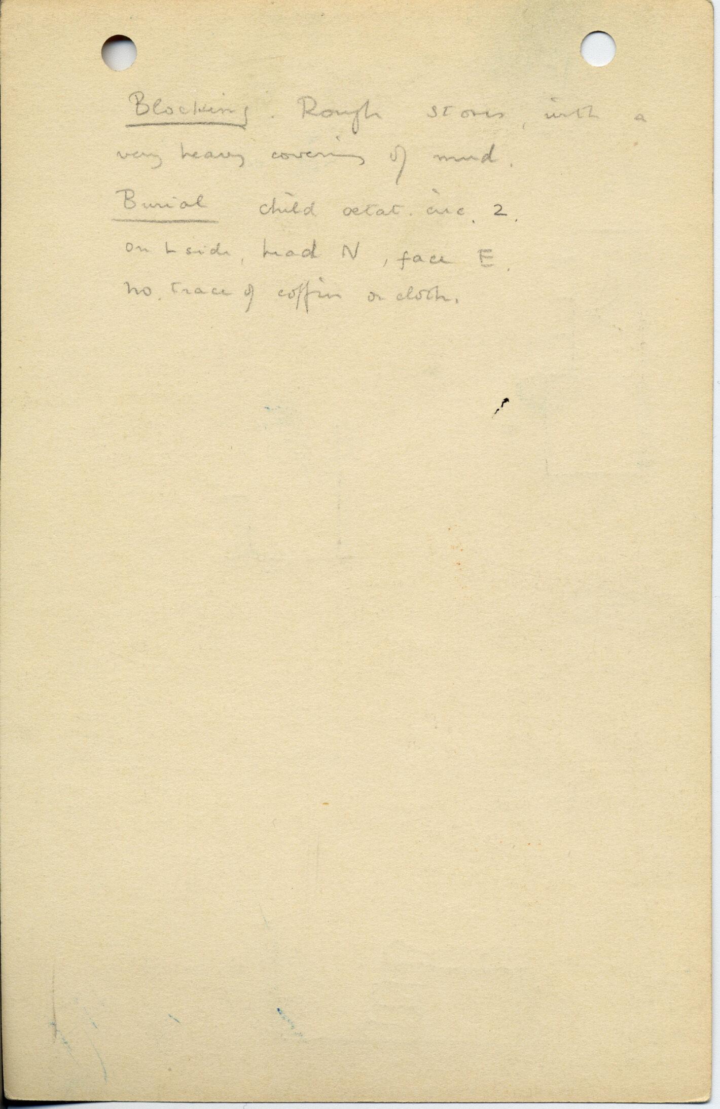Notes: G 1025a, Shaft D, notes