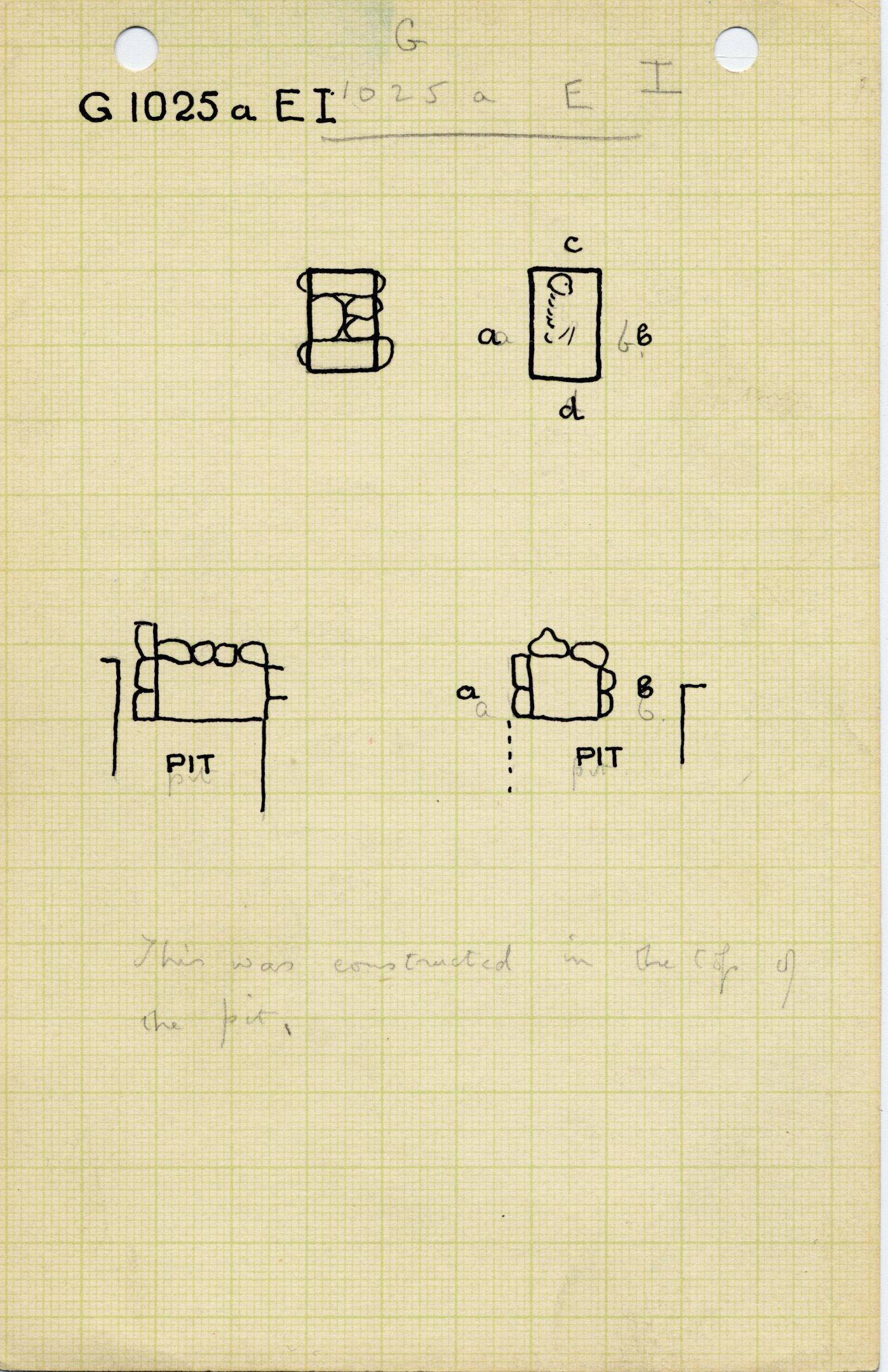 Maps and plans: G 1025a, Shaft E (I)