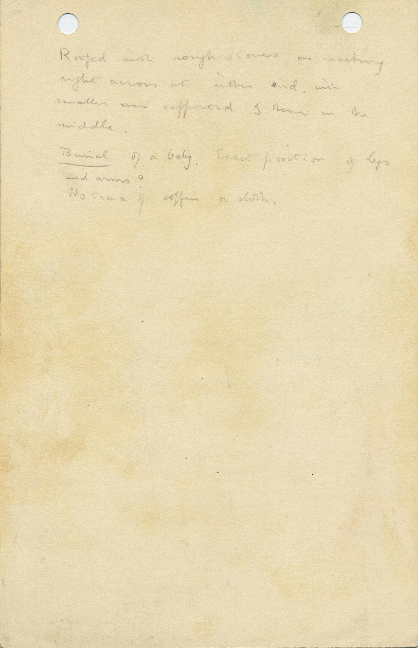 Notes: G 1025a, Shaft E (I), notes
