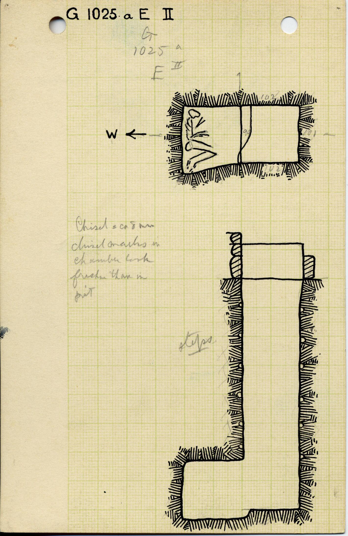 Maps and plans: G 1025a, Shaft E (II)