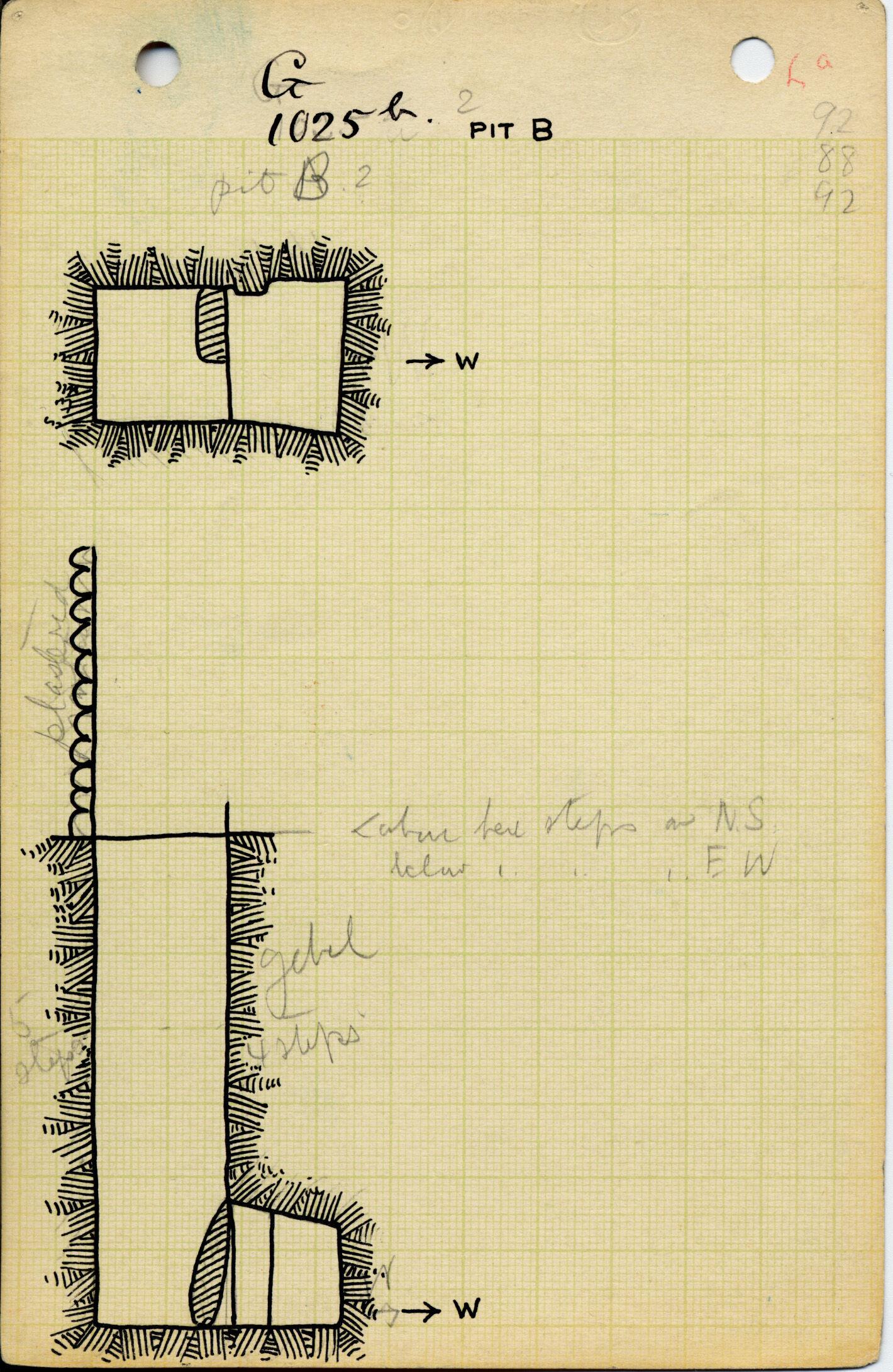 Maps and plans: G 1025b, Shaft B