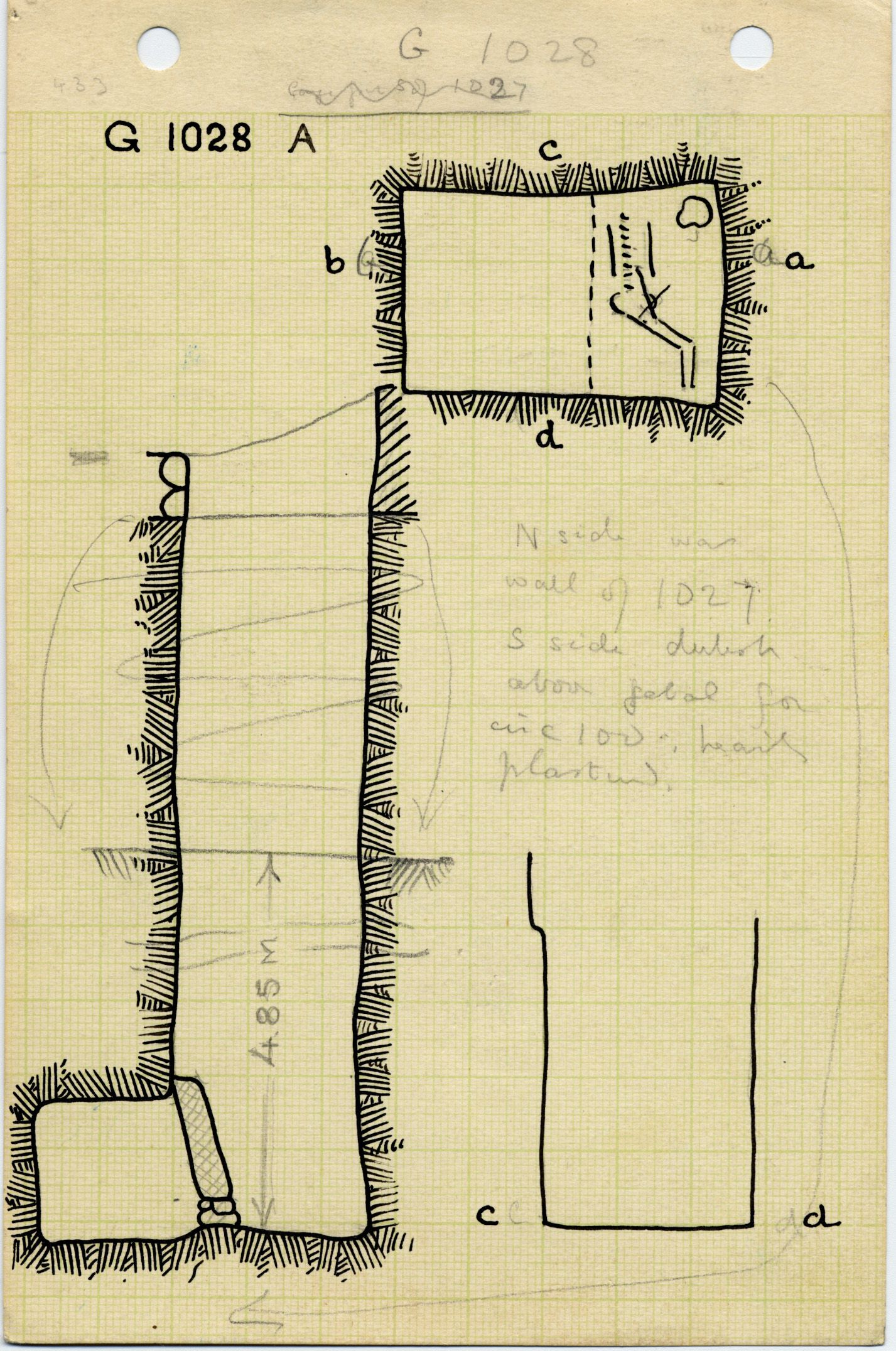Maps and plans: G 1028, Shaft A