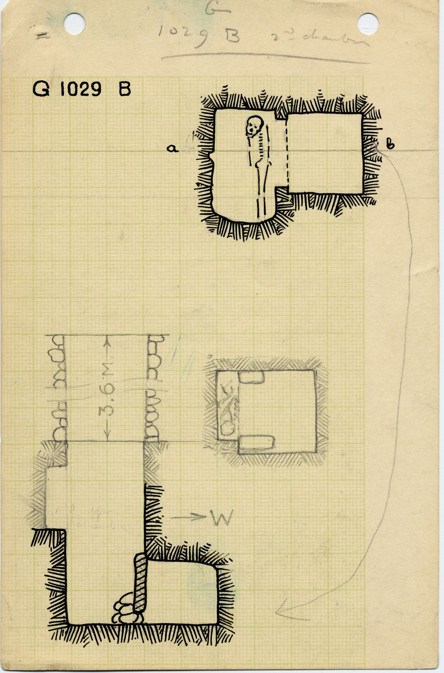 Maps and plans: G 1029, Shaft B (II)