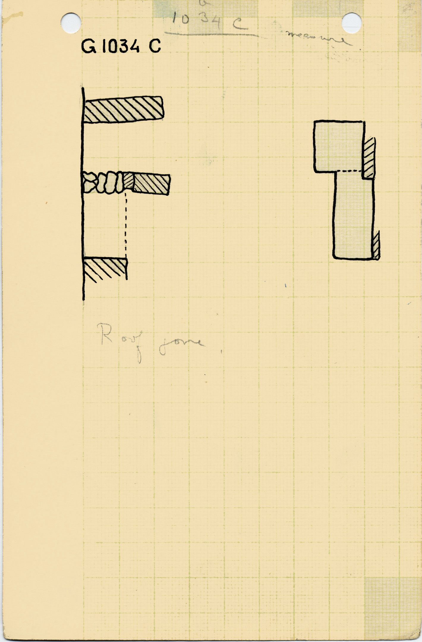 Maps and plans: G 1034, Shaft C