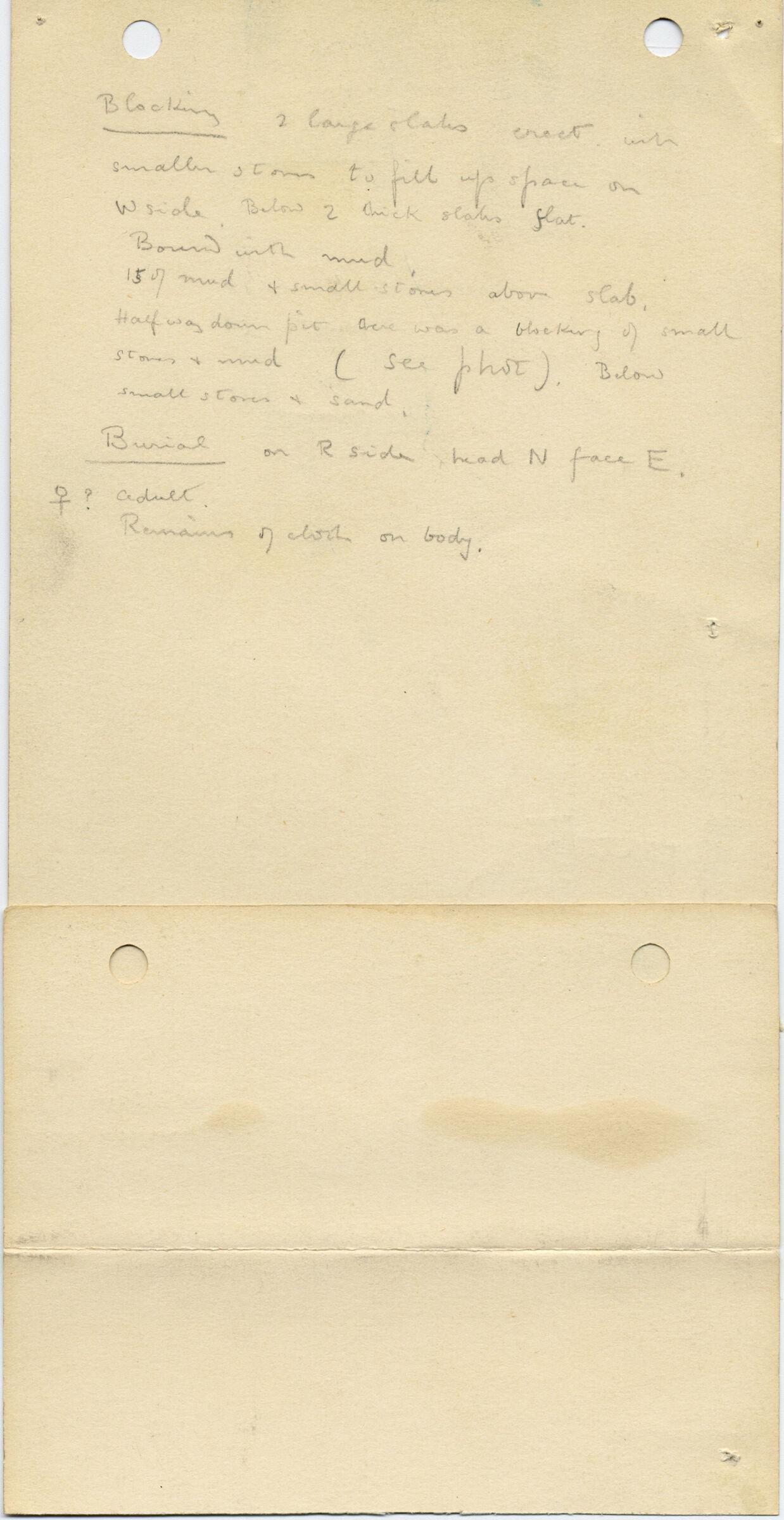 Notes: G 1035bc, Shaft C (I), notes