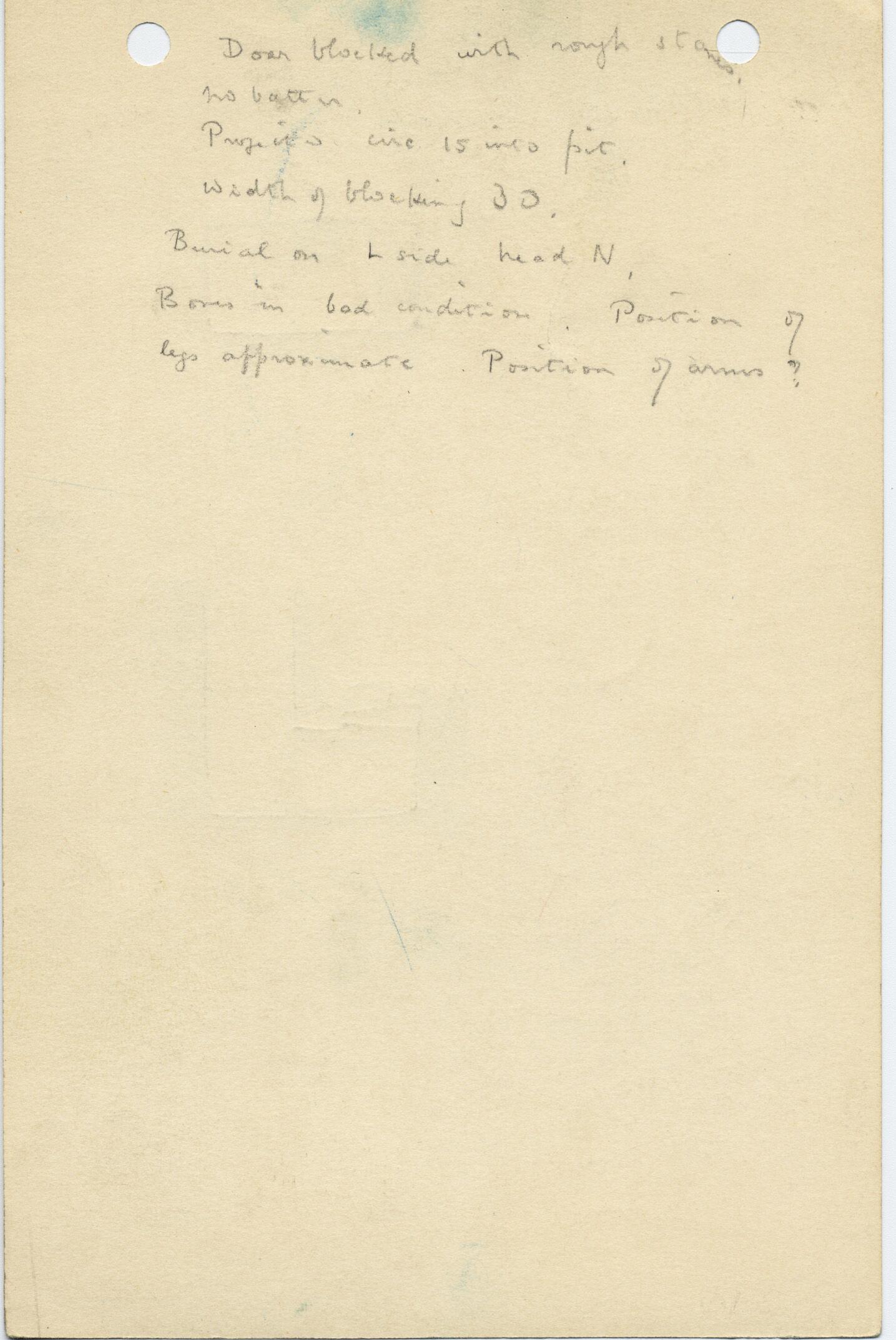 Notes: G 1035d, Shaft D, notes