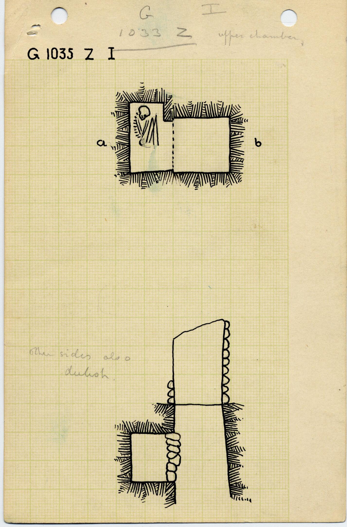 Maps and plans: G 1035z, Shaft Z (I)