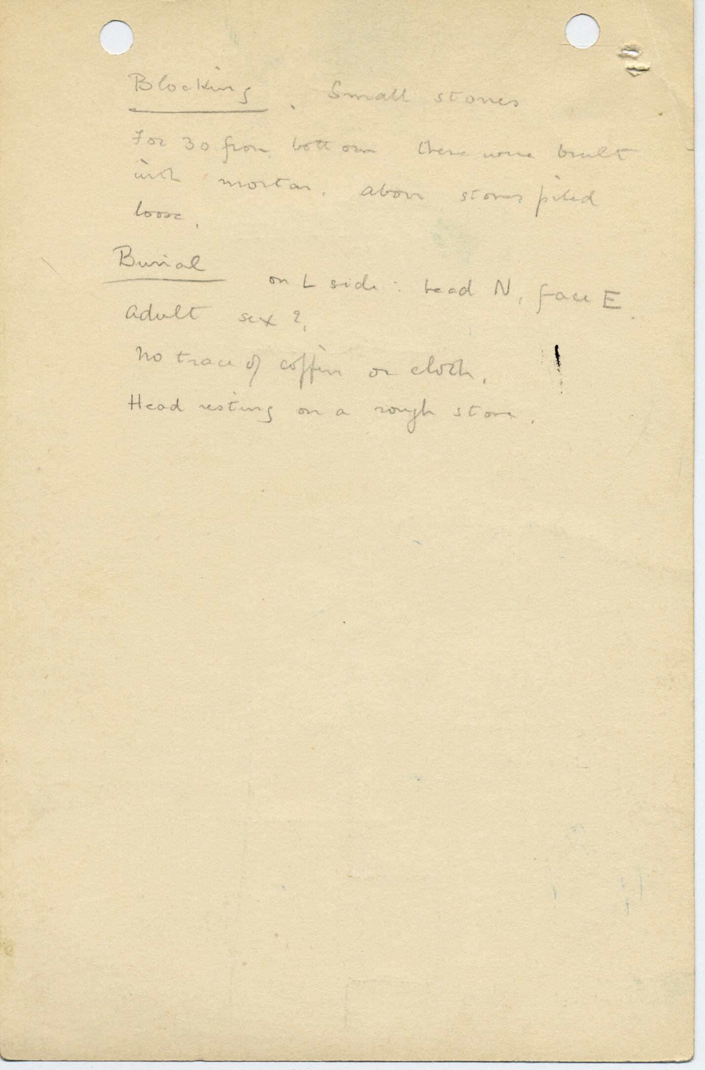 Notes: G 1035z, Shaft Z (I), notes