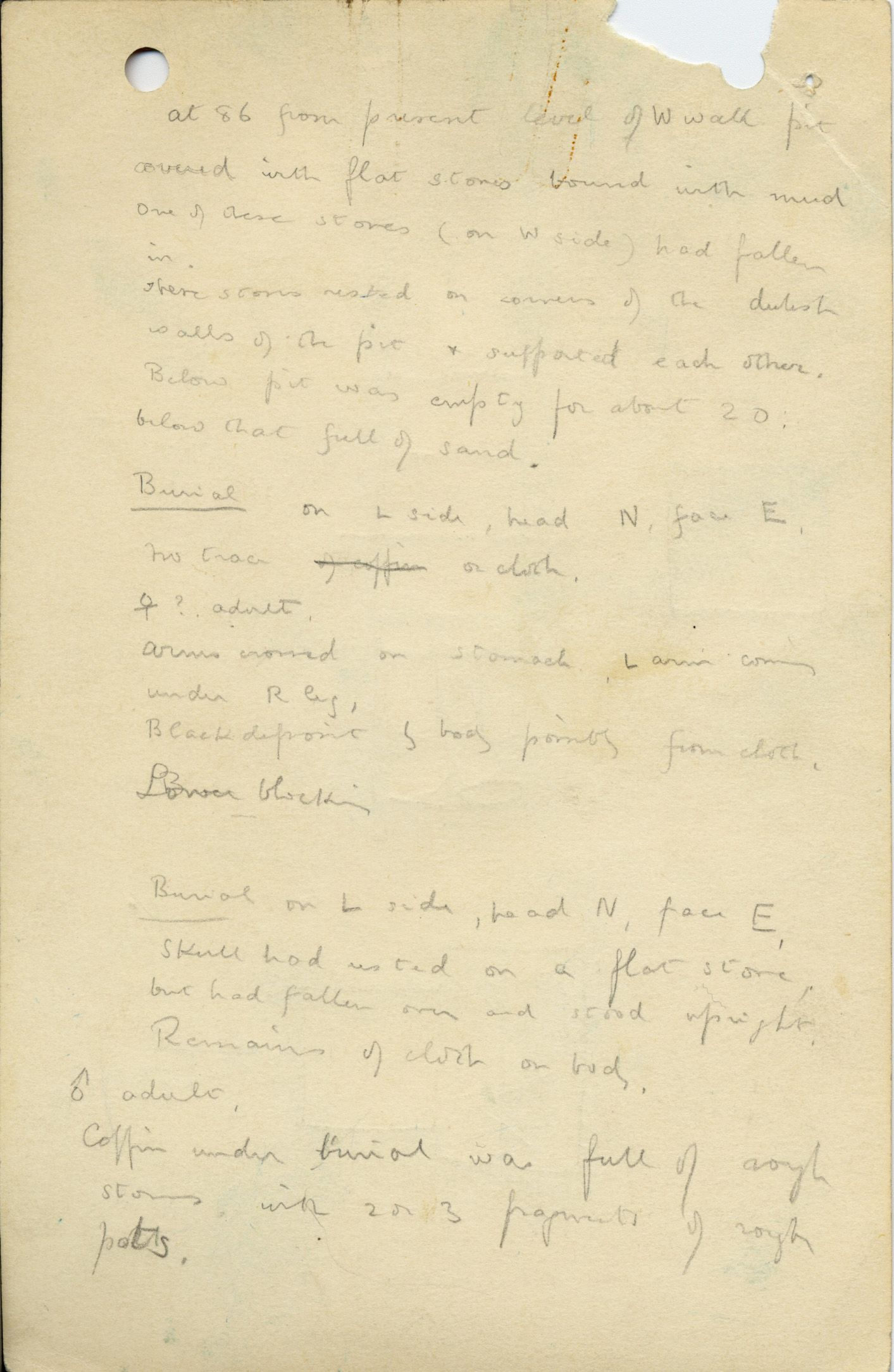 Notes: G 1036, Shaft C (I & II), notes