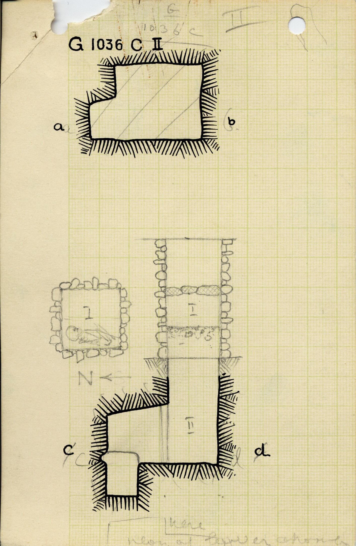 Maps and plans: G 1036, Shaft C (I & II)