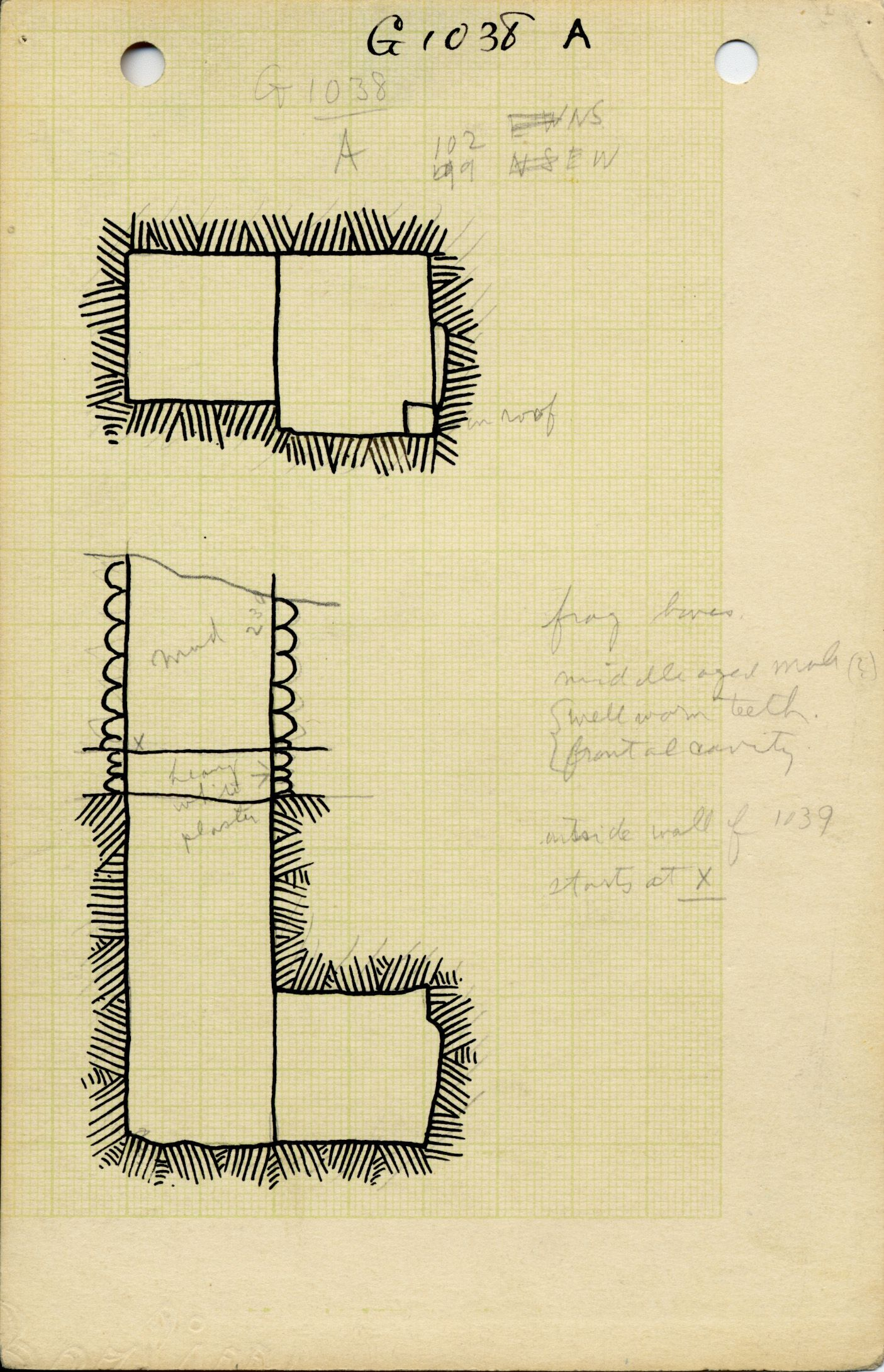 Maps and plans: G 1038, Shaft A