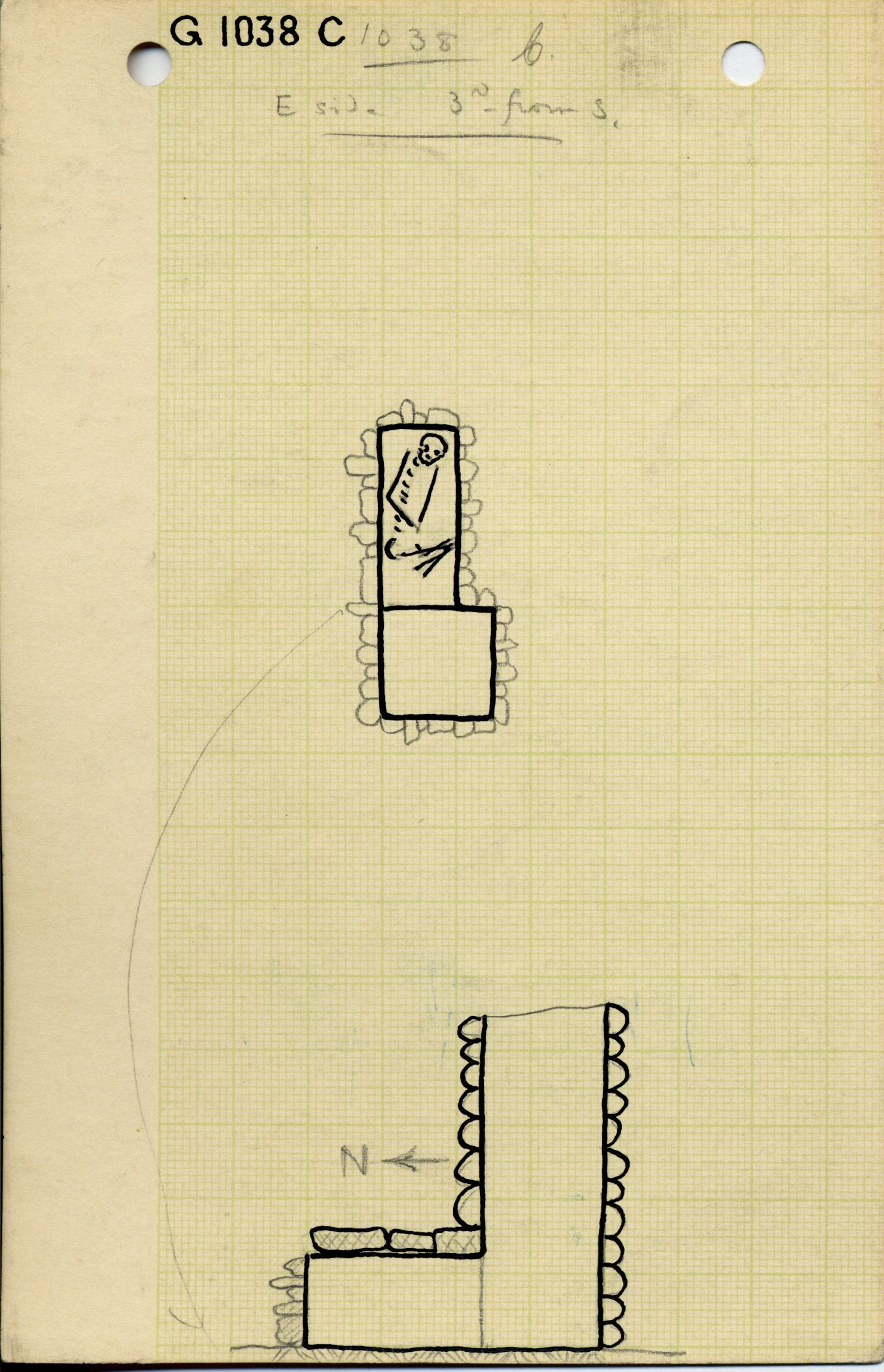 Maps and plans: G 1038, Shaft C
