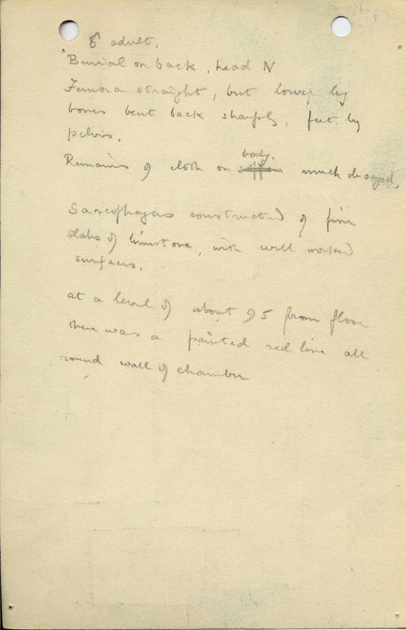 Notes: G 1039, Shaft B (I), notes