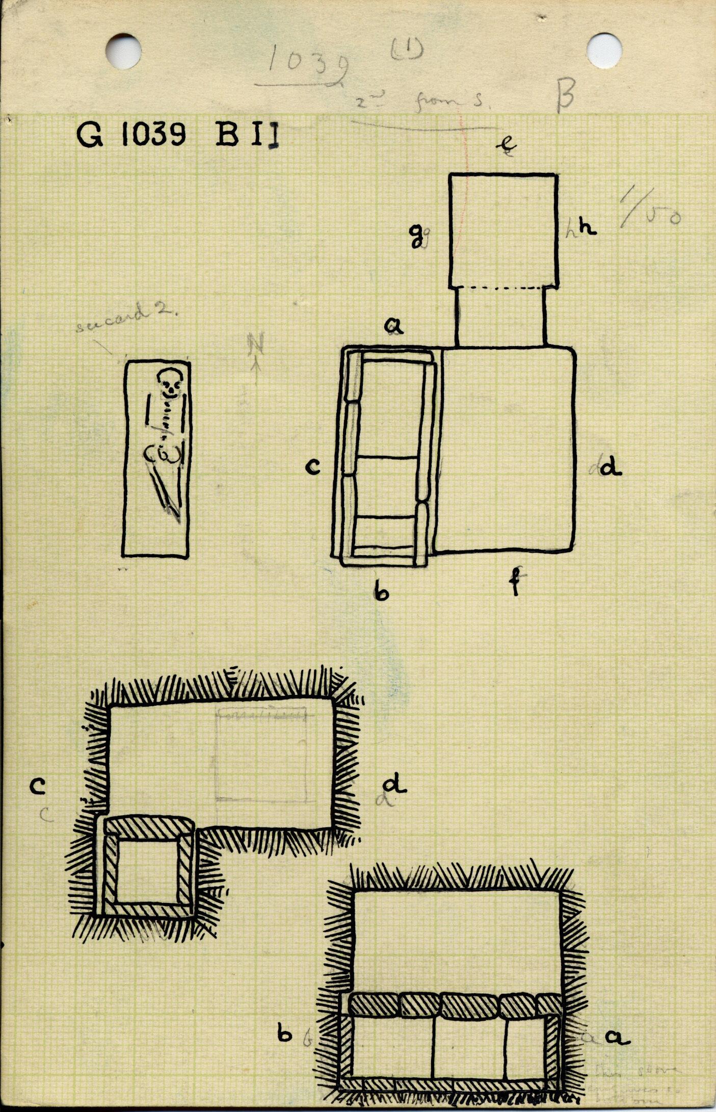 Maps and plans: G 1039, Shaft B (II)